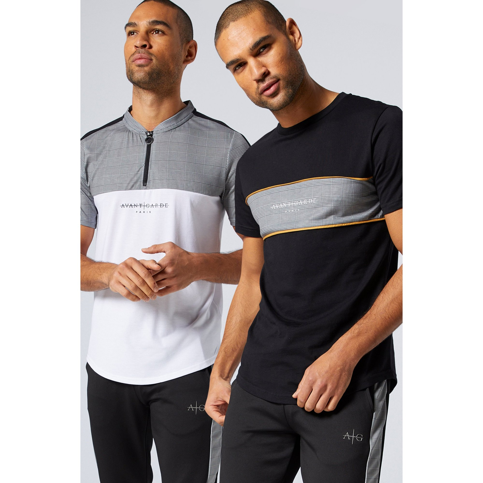 Image of Avant Garde Pack of 2 Check T-Shirts