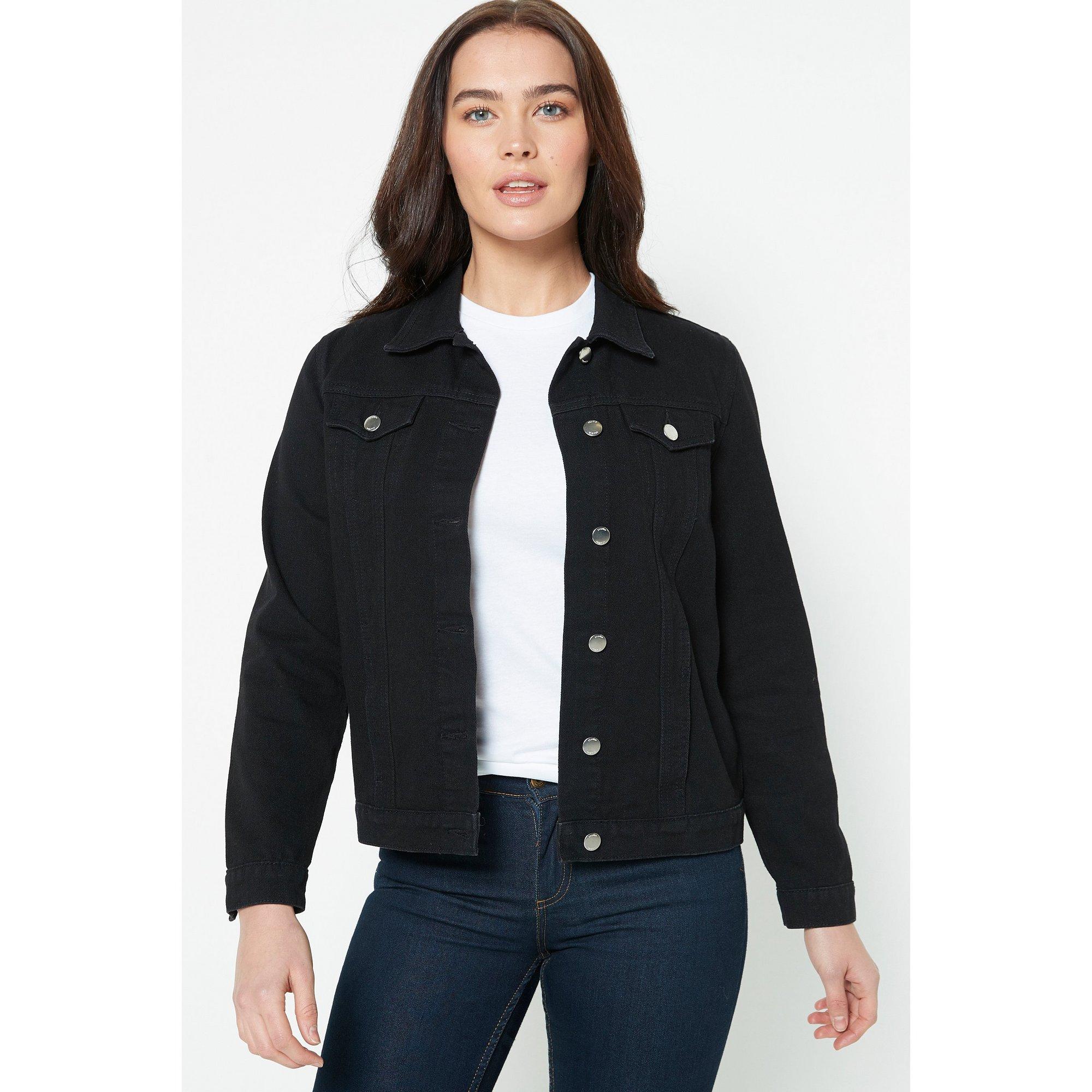 Image of Basic Black Denim Jacket