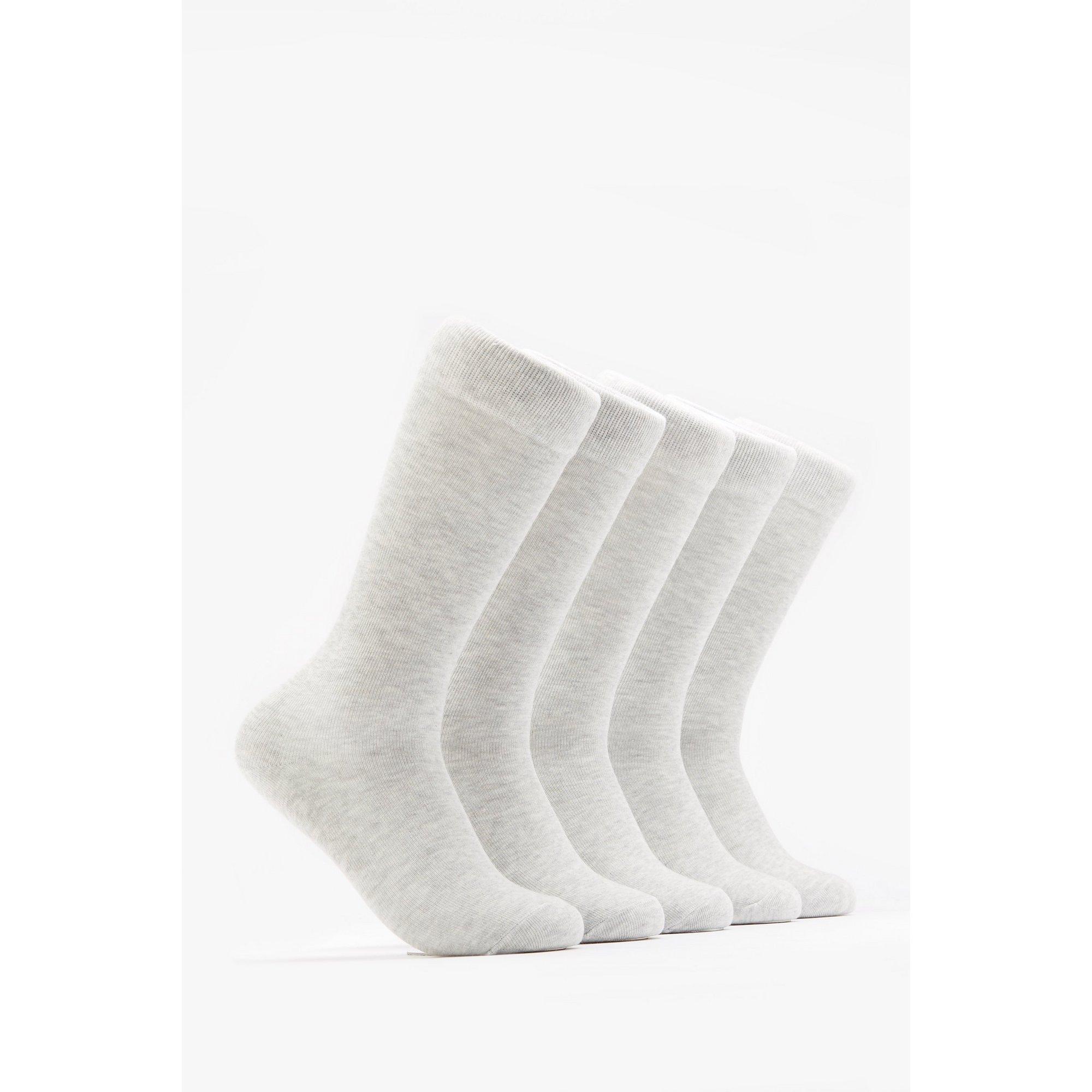 Image of Girls Pack of 5 Grey Knee High Socks