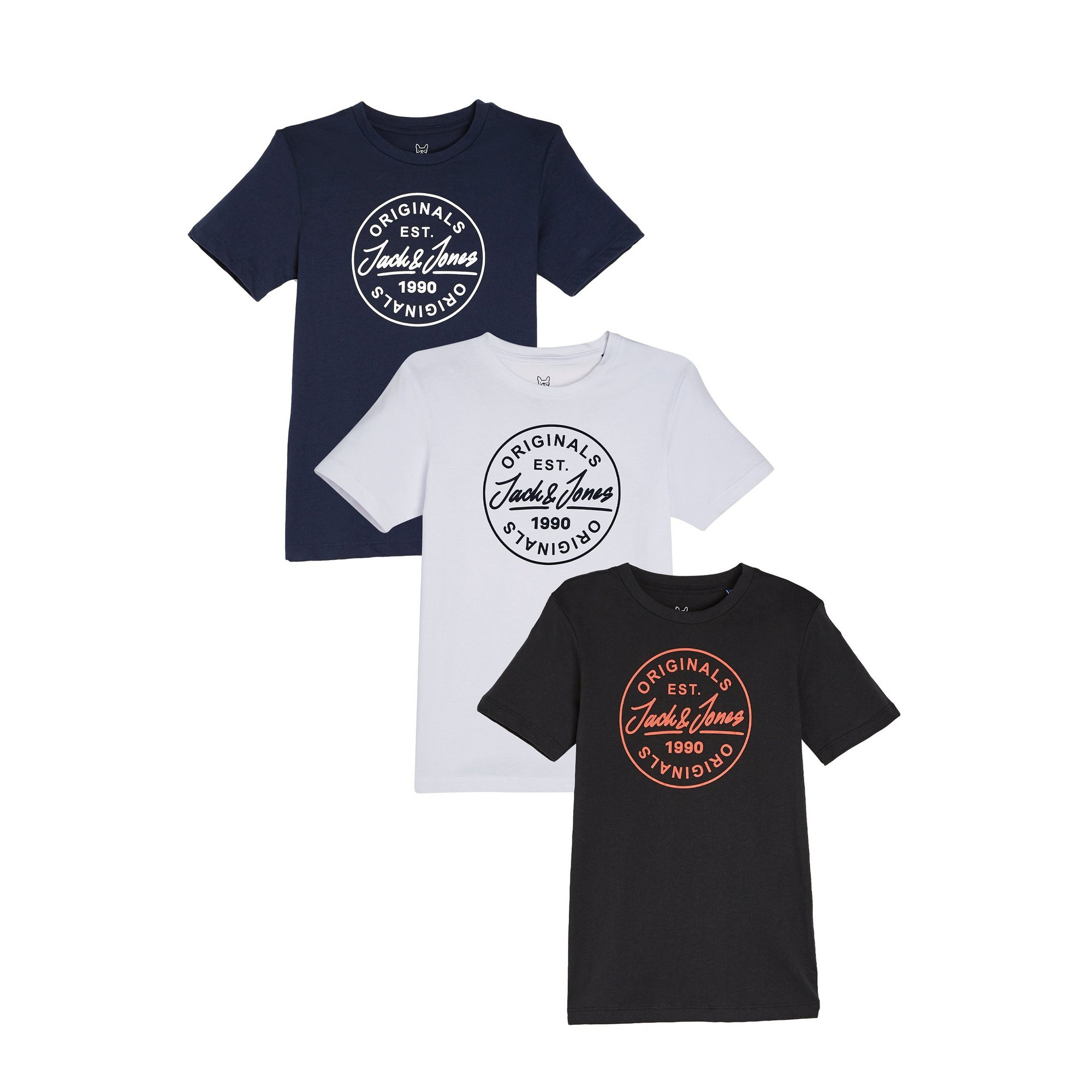Image of Boys Jack and Jones Pack of 3 Joremore T-Shirts