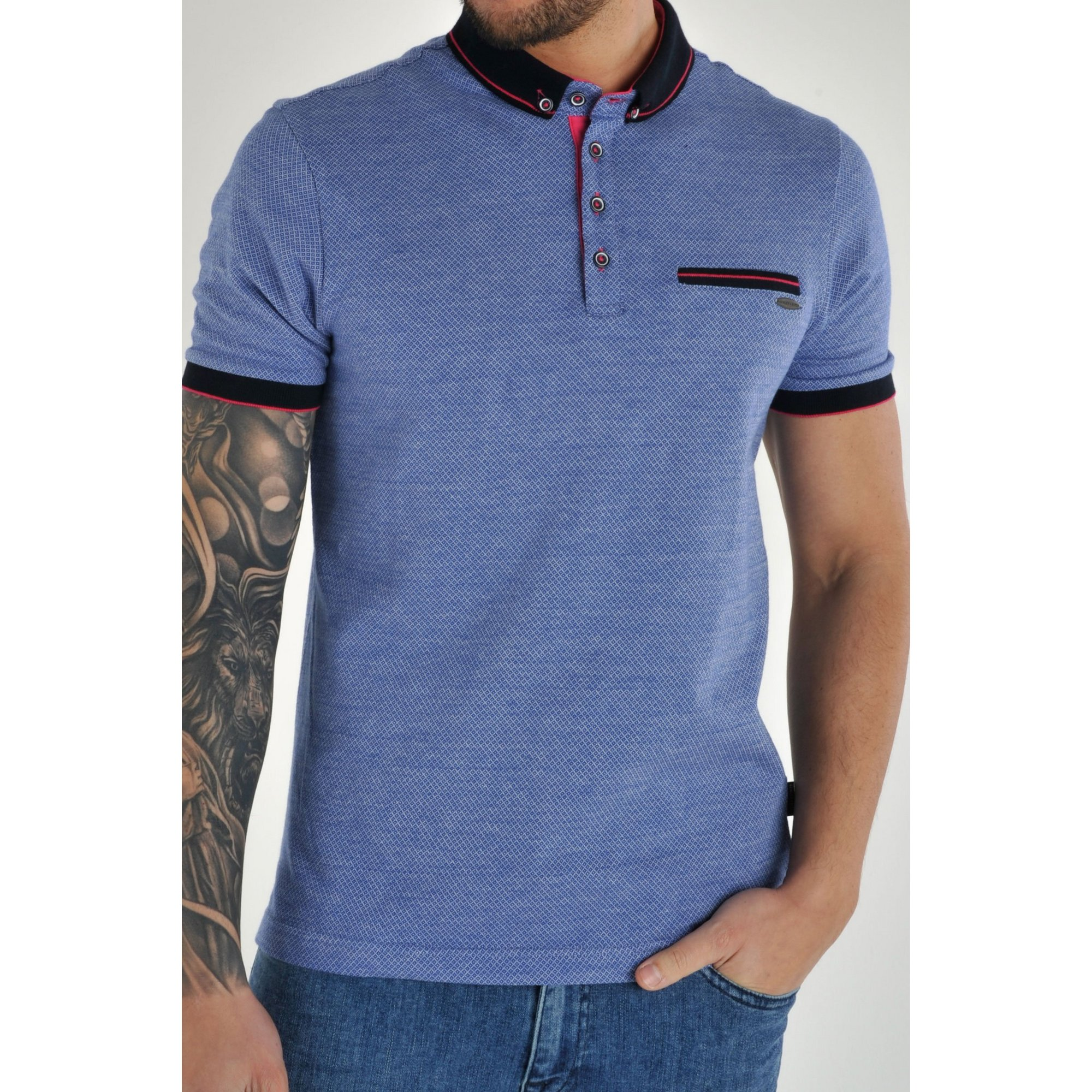 Image of Bewley and Ritch All Over Printed Polo Shirt