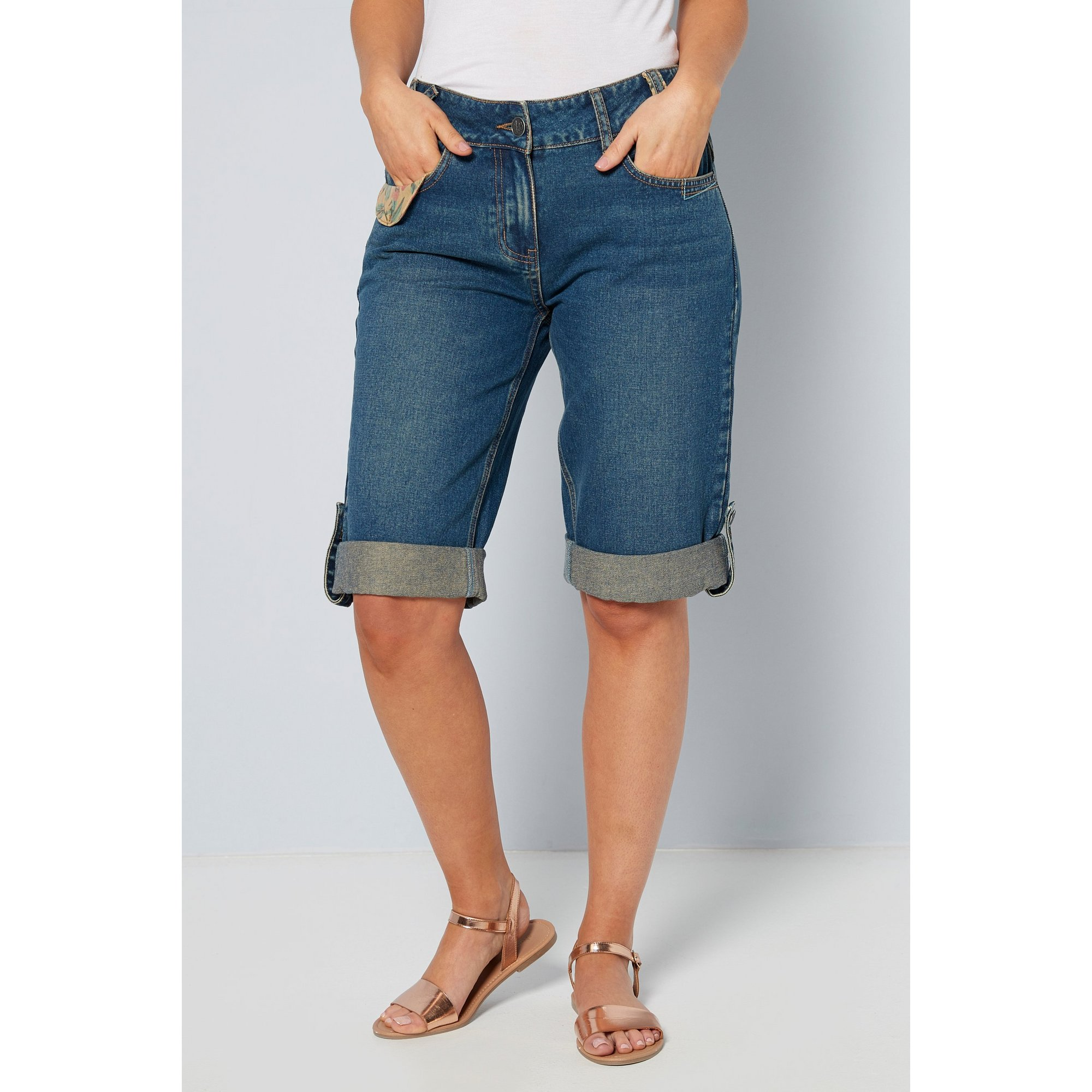 Image of Joe Browns Beautiful Belted Denim Shorts