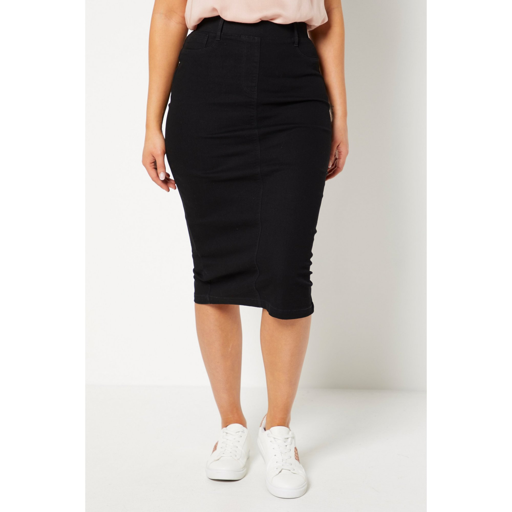 Image of Black Jegging Skirt