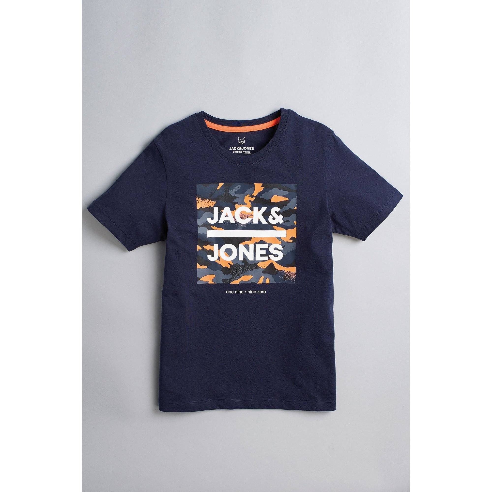 Image of Boys Jack and Jones Navy T-Shirt