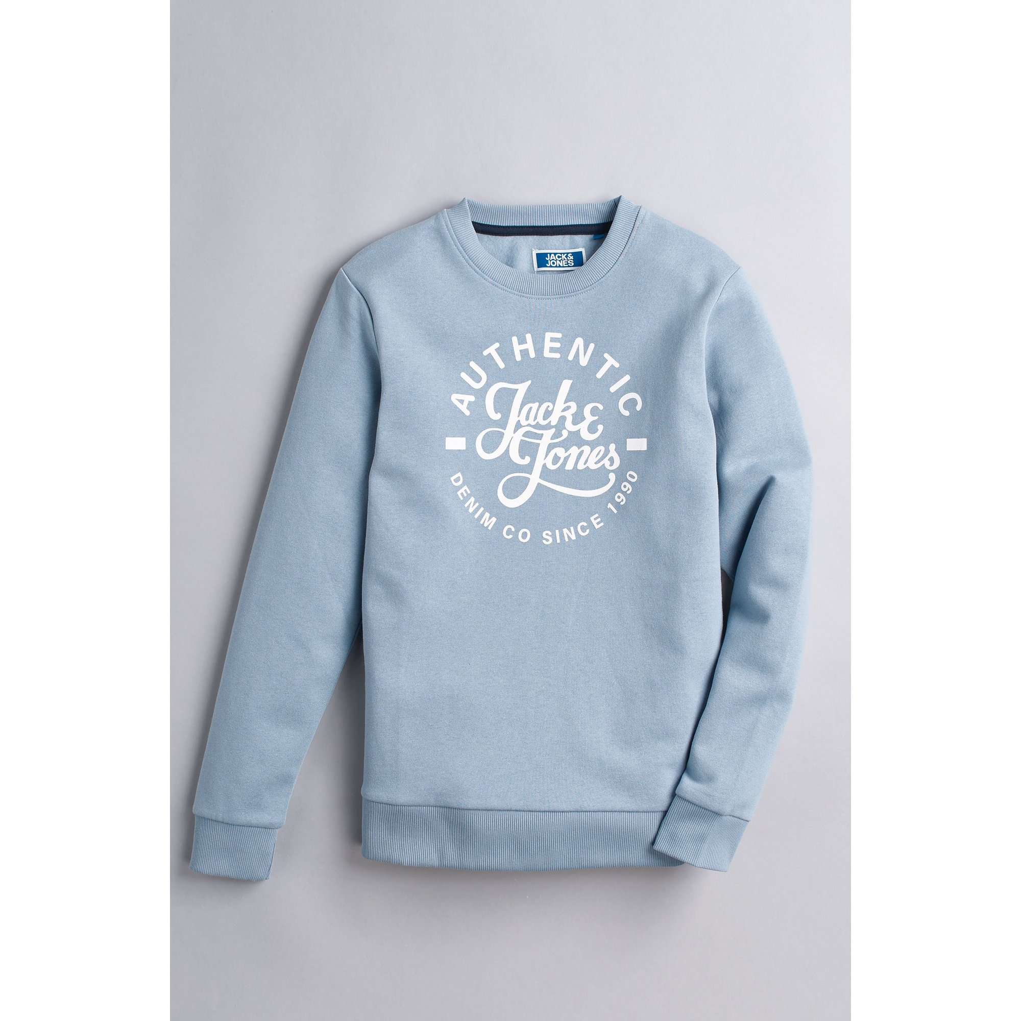 Image of Boys Jack and Jones Faded Denim Sweatshirt