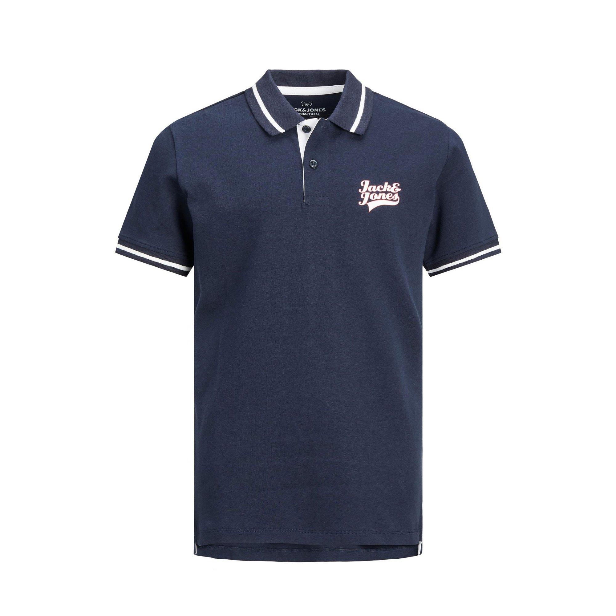 Image of Boys Jack and Jones Navy Polo Shirt