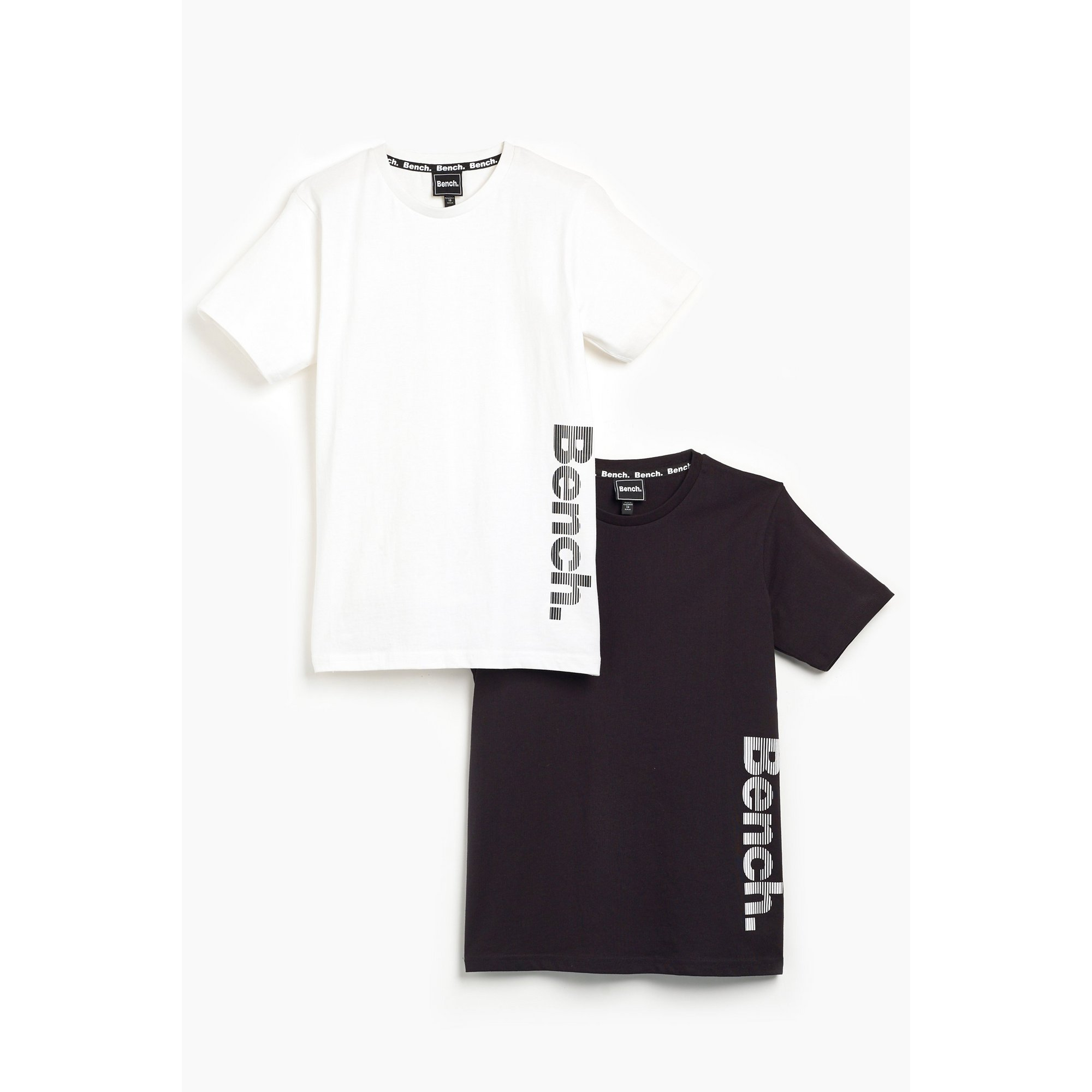 Image of Boys Bench Pack of 2 Black/White T-Shirts