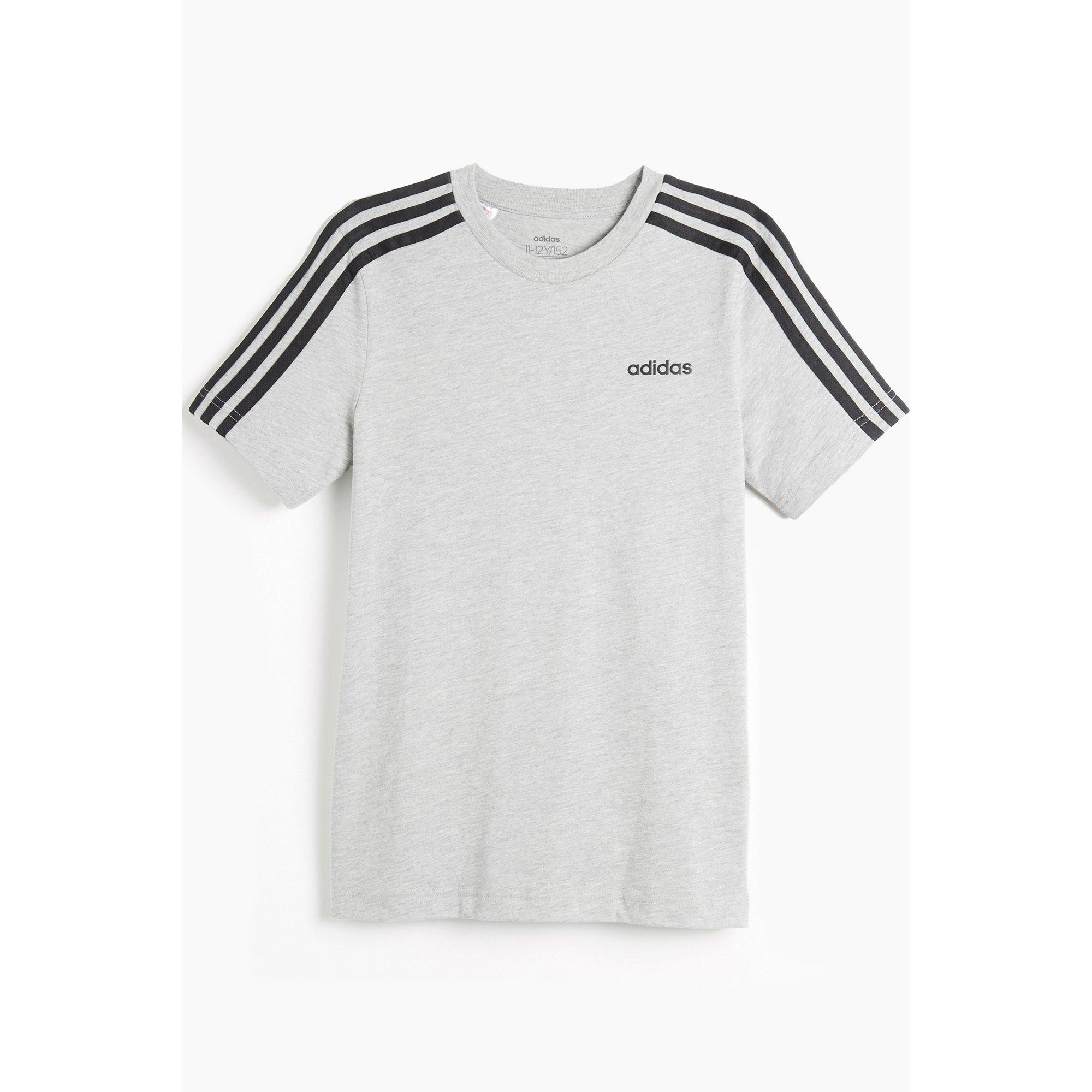 Image of Boys adidas Essentials Grey T-Shirt