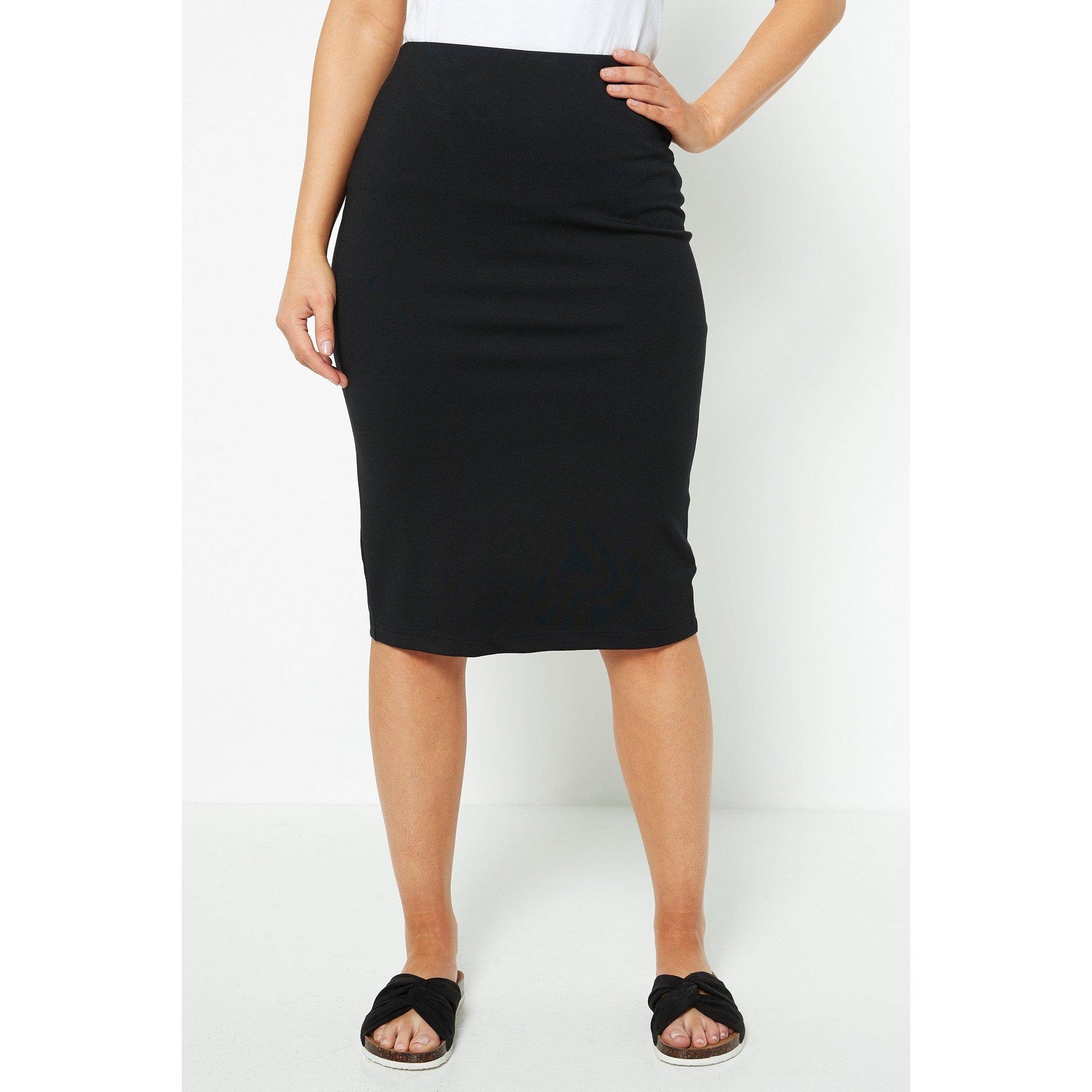Image of Black Ponte Pencil Skirt