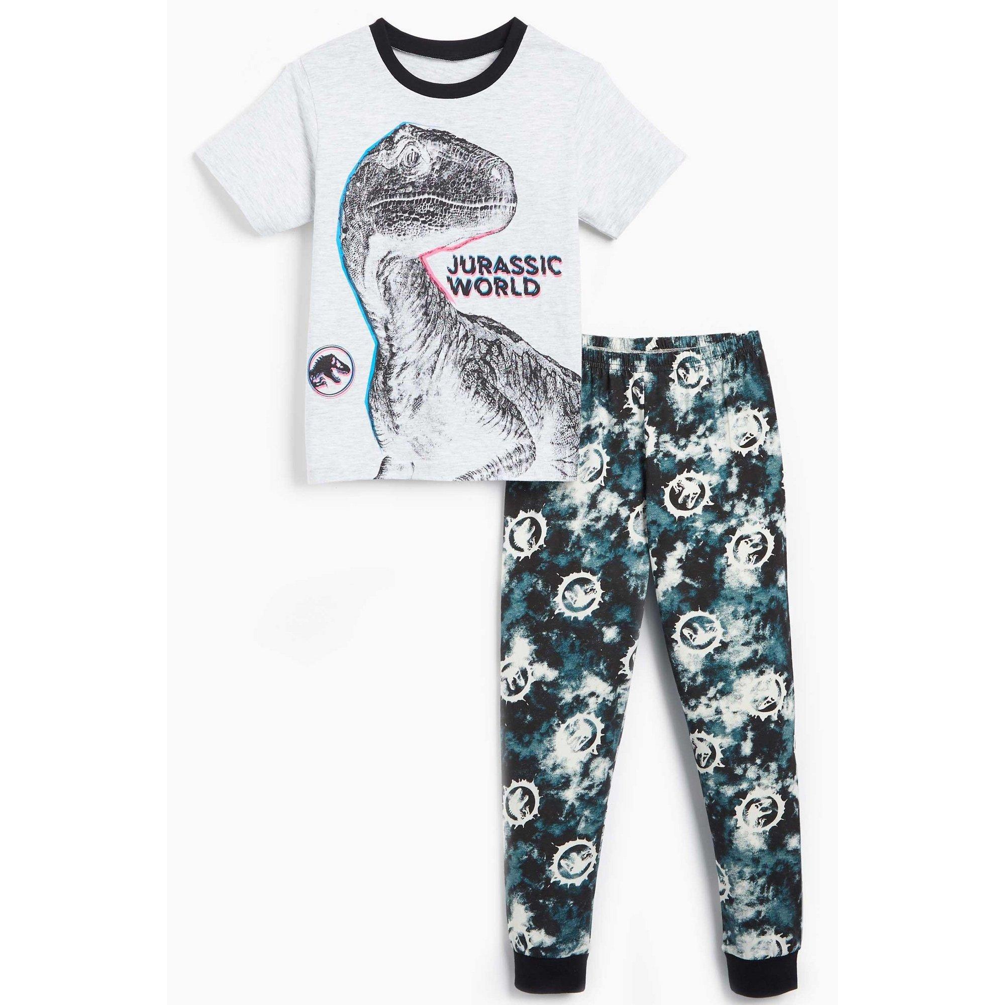 Image of Boys Jurassic World Camo Pyjamas