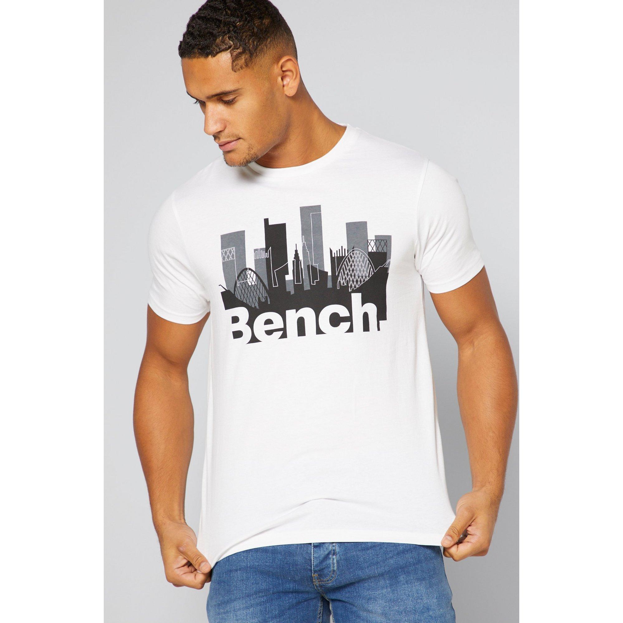 Image of Bench City Print White T-Shirt