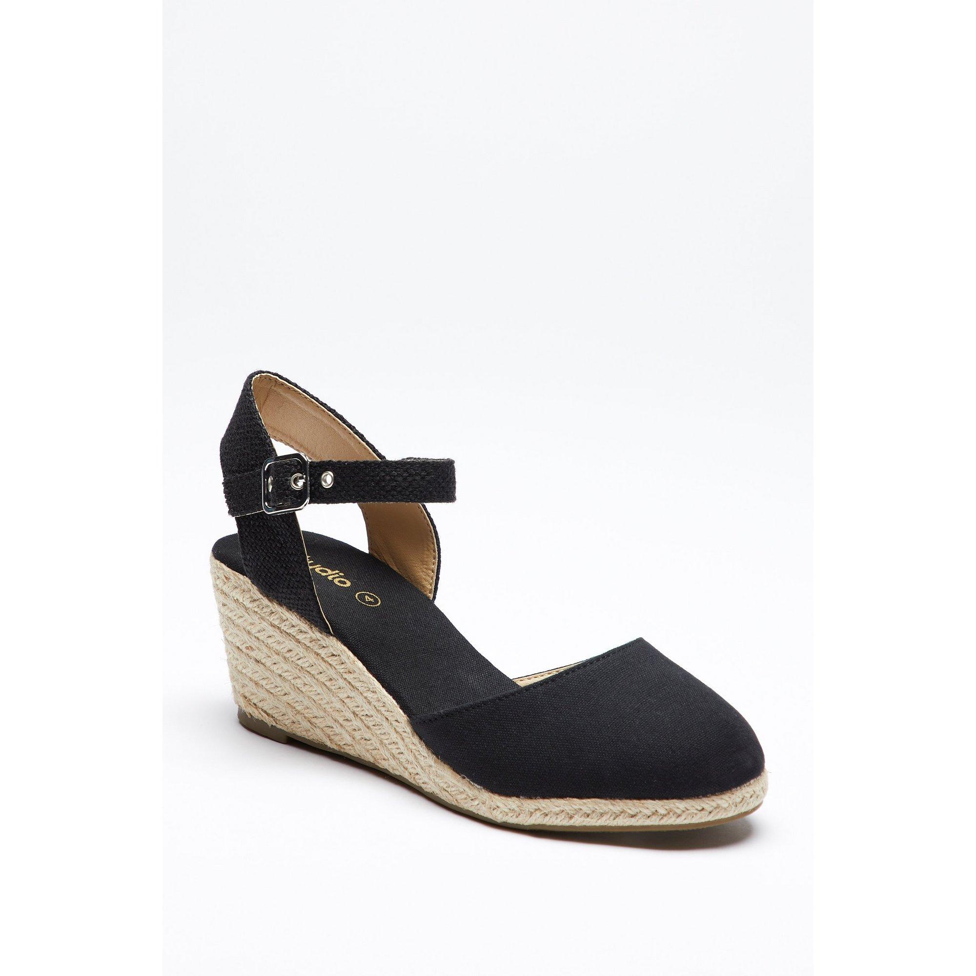 Image of 2 Part Espadrille Wedge Heel Sandals