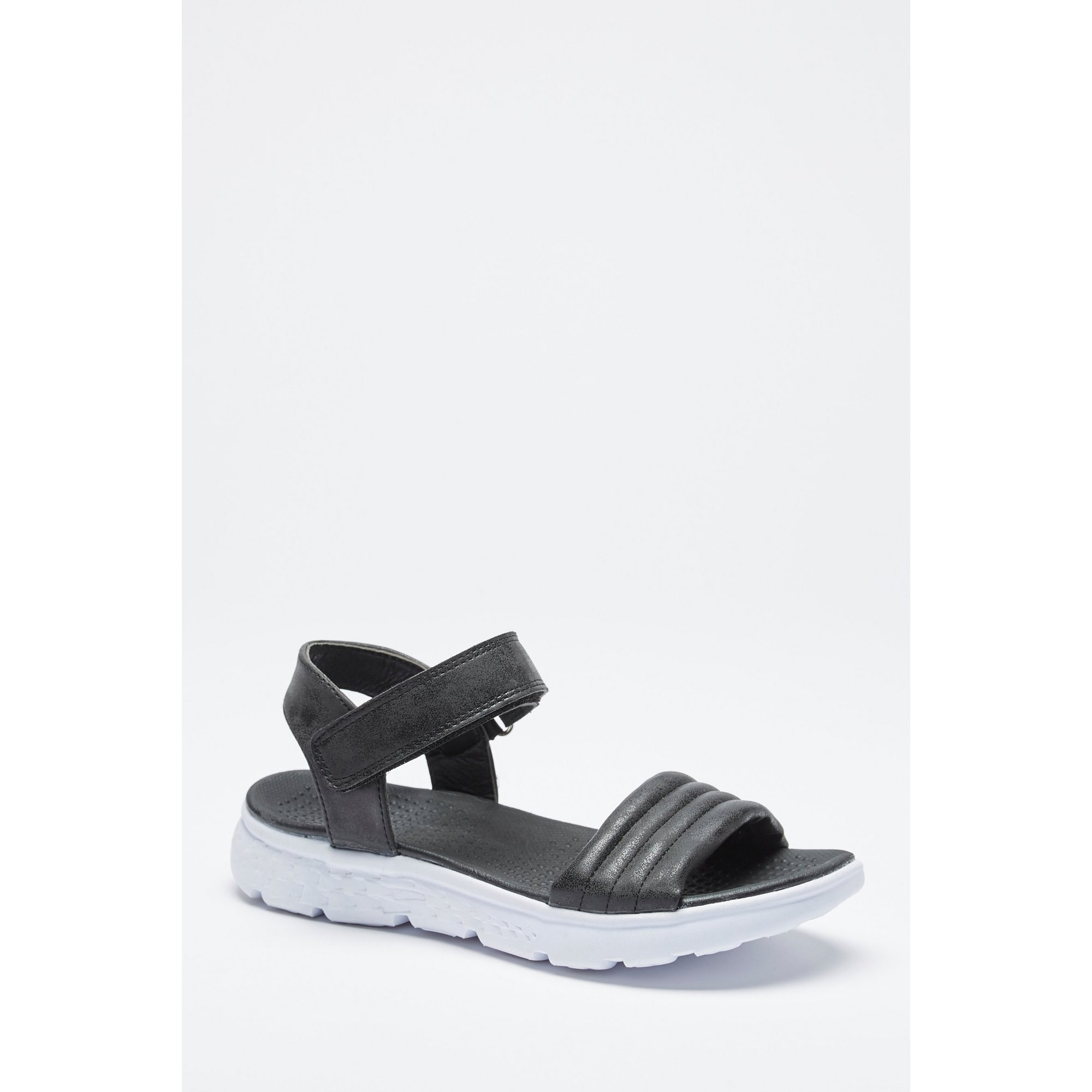 Image of 2 Part Casual Black Sandals