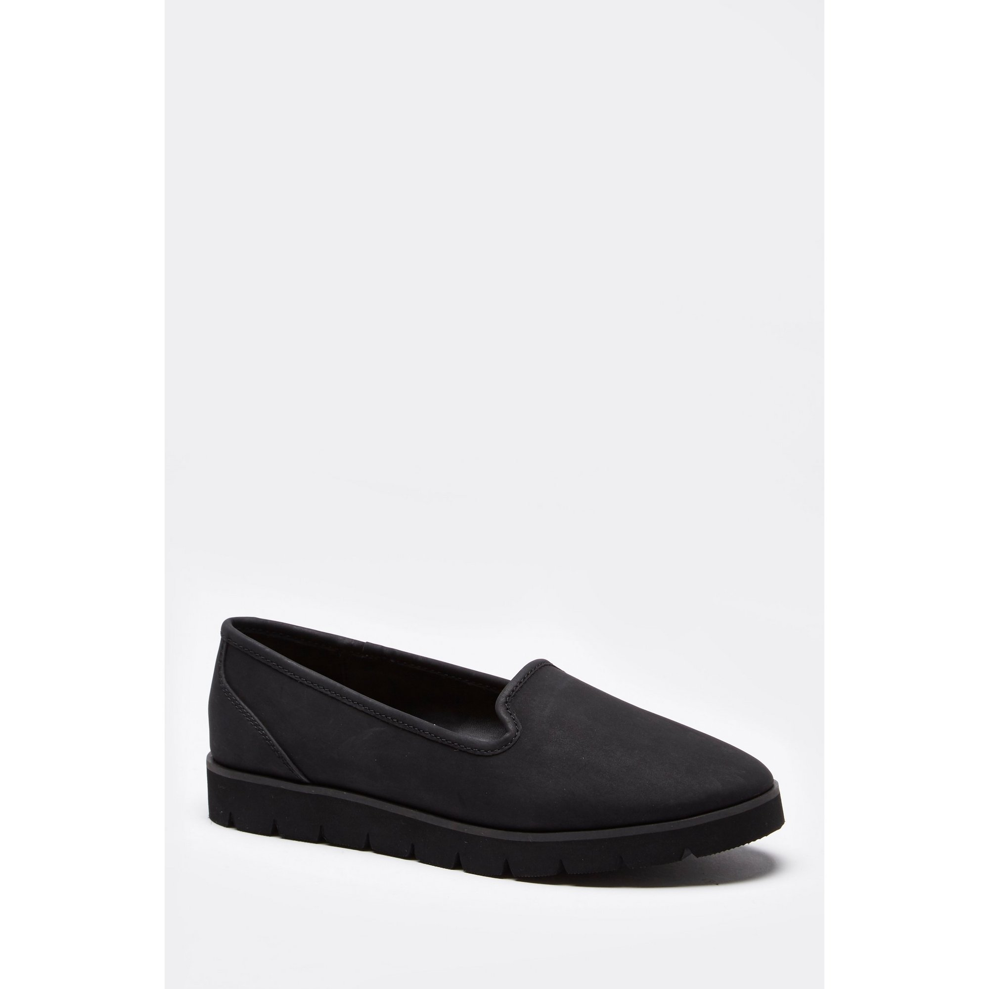 Image of Casual Loafer Cut Black Shoes