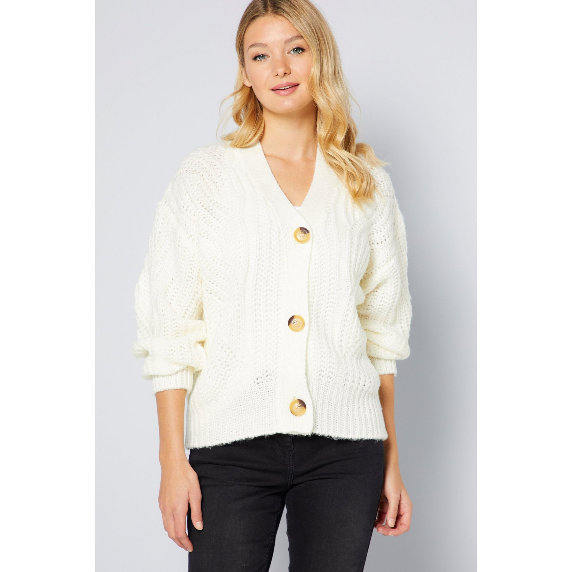 Image of Brave Soul Pointelle Buttoned Cardigan