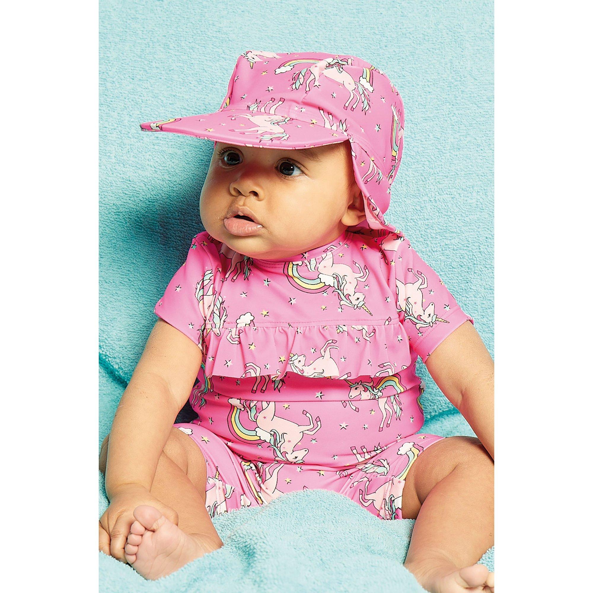 Image of Baby Girls Pink Unicorn Sunsafe