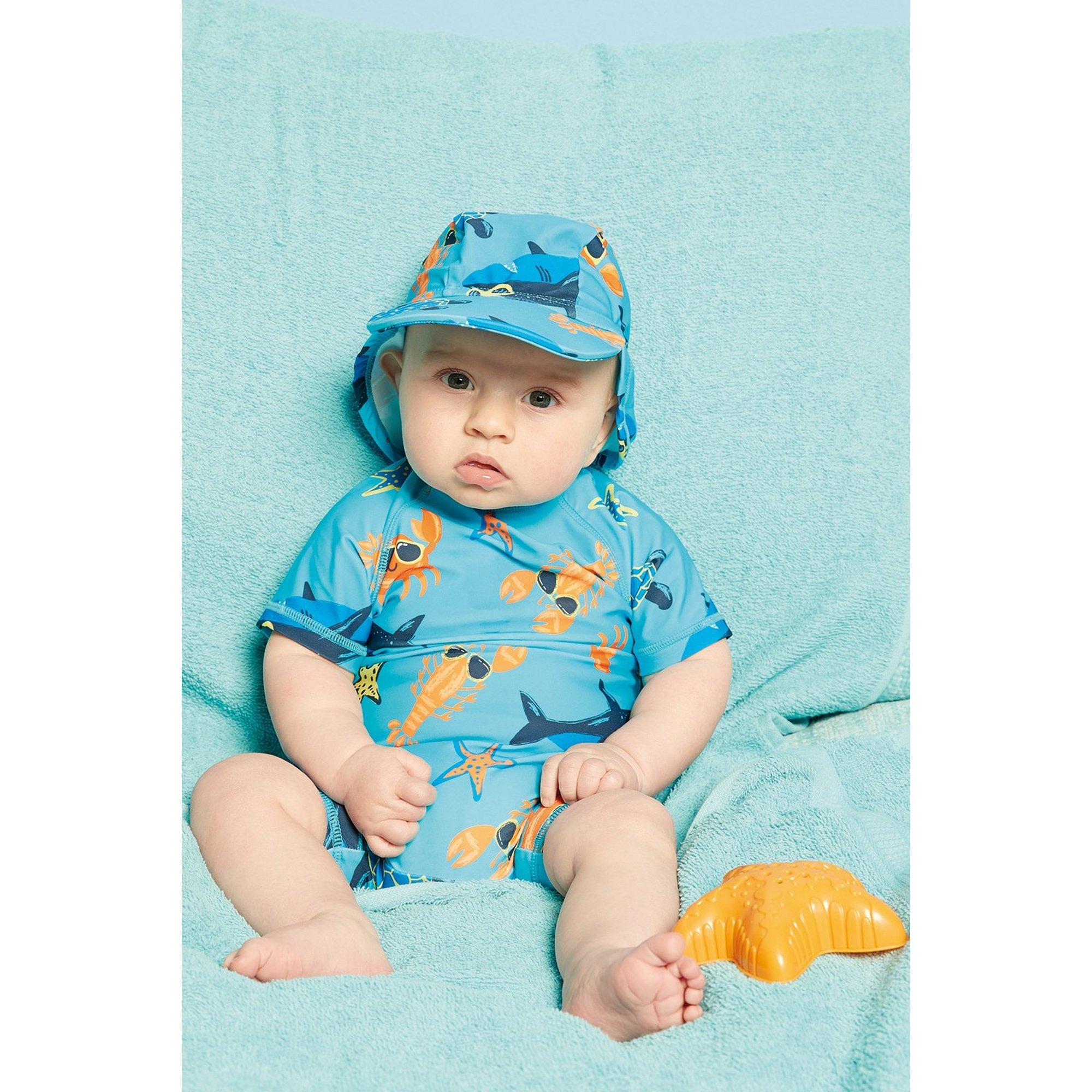 Image of Baby Boys Blue Sea Creatures Sunsafe