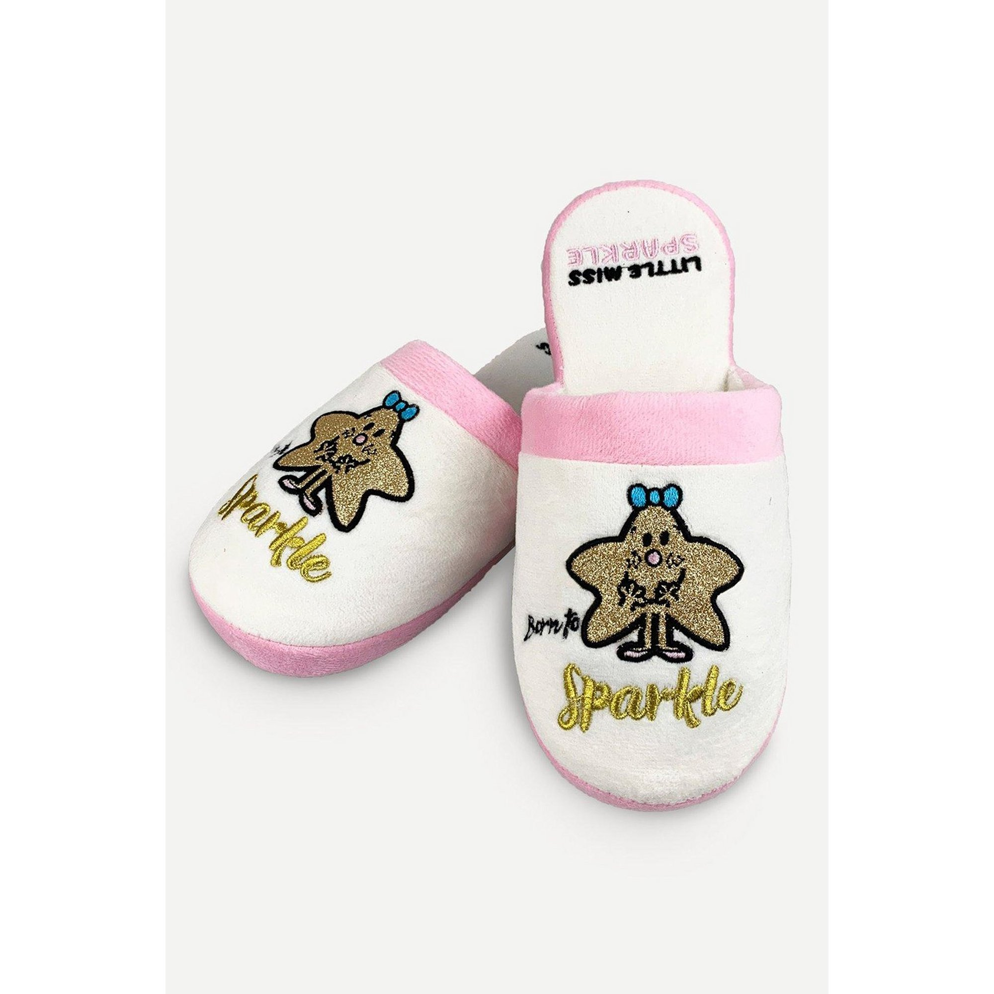Image of Little Miss Sparkle White Mule Slippers
