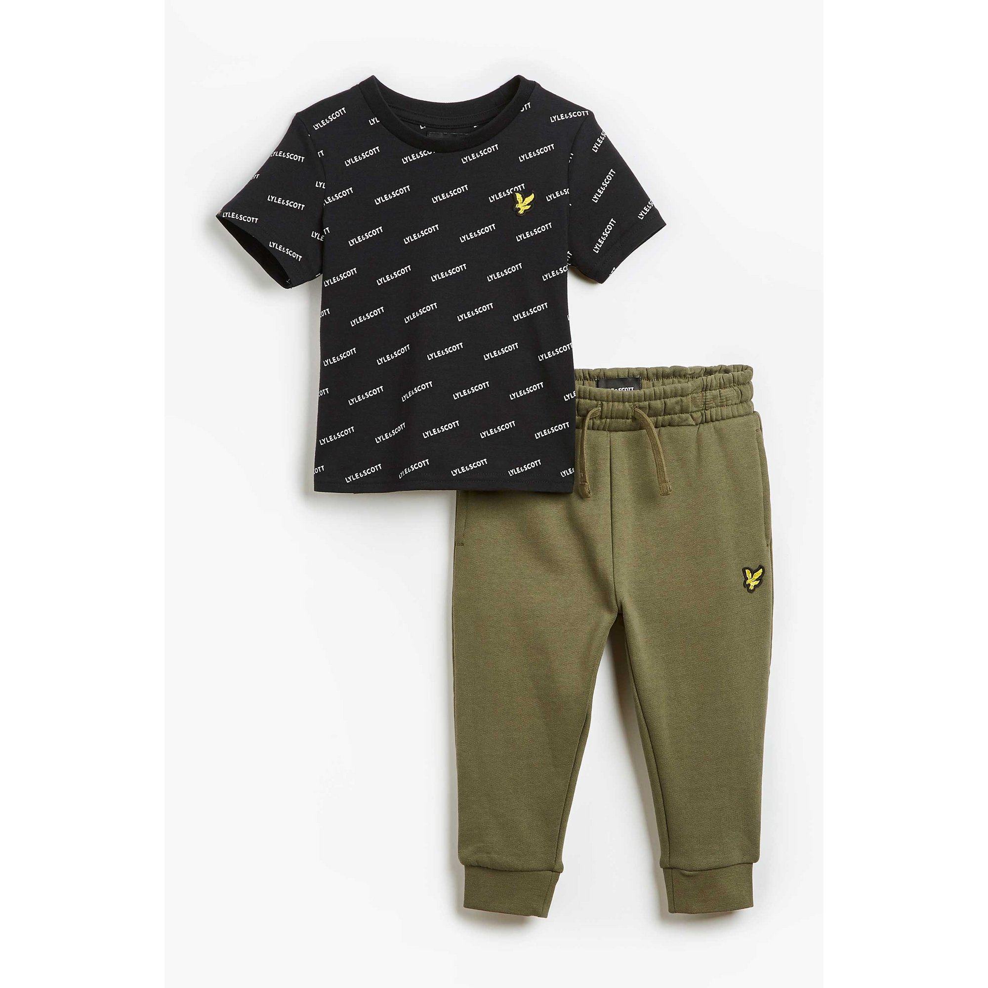 Image of Baby Boy Lyle and Scott T-Shirt and Joggers Set