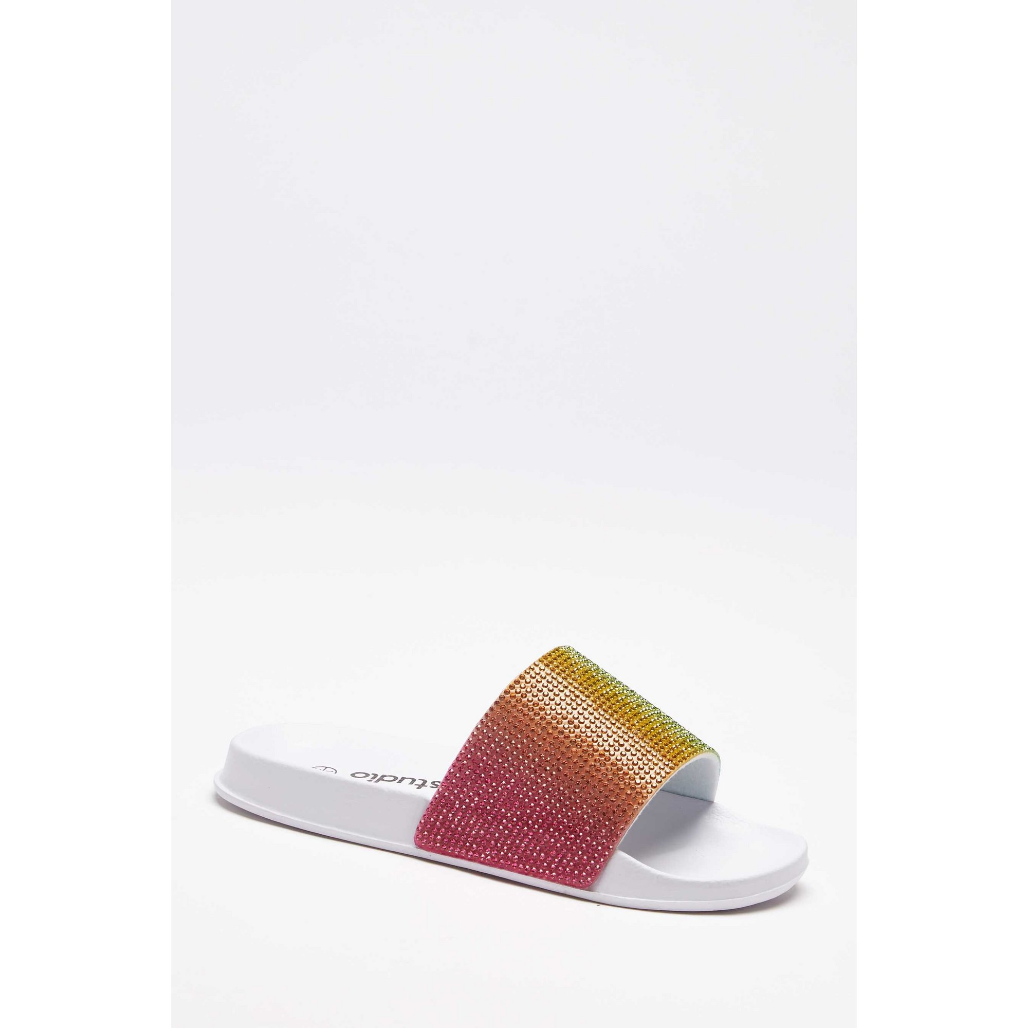 Image of Girls Diamante Rainbow Sliders