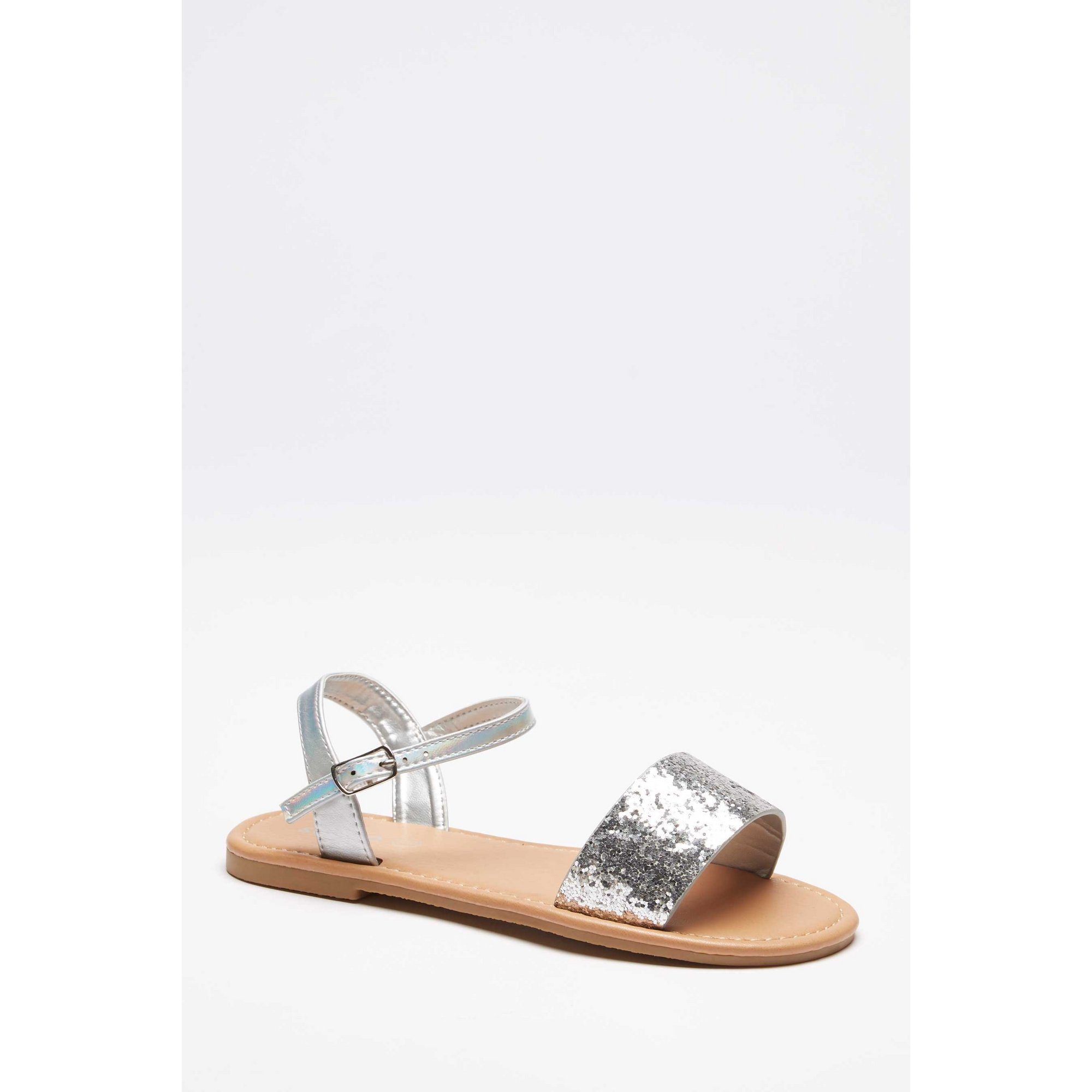 Image of Girls 2 Part Silver Sandals