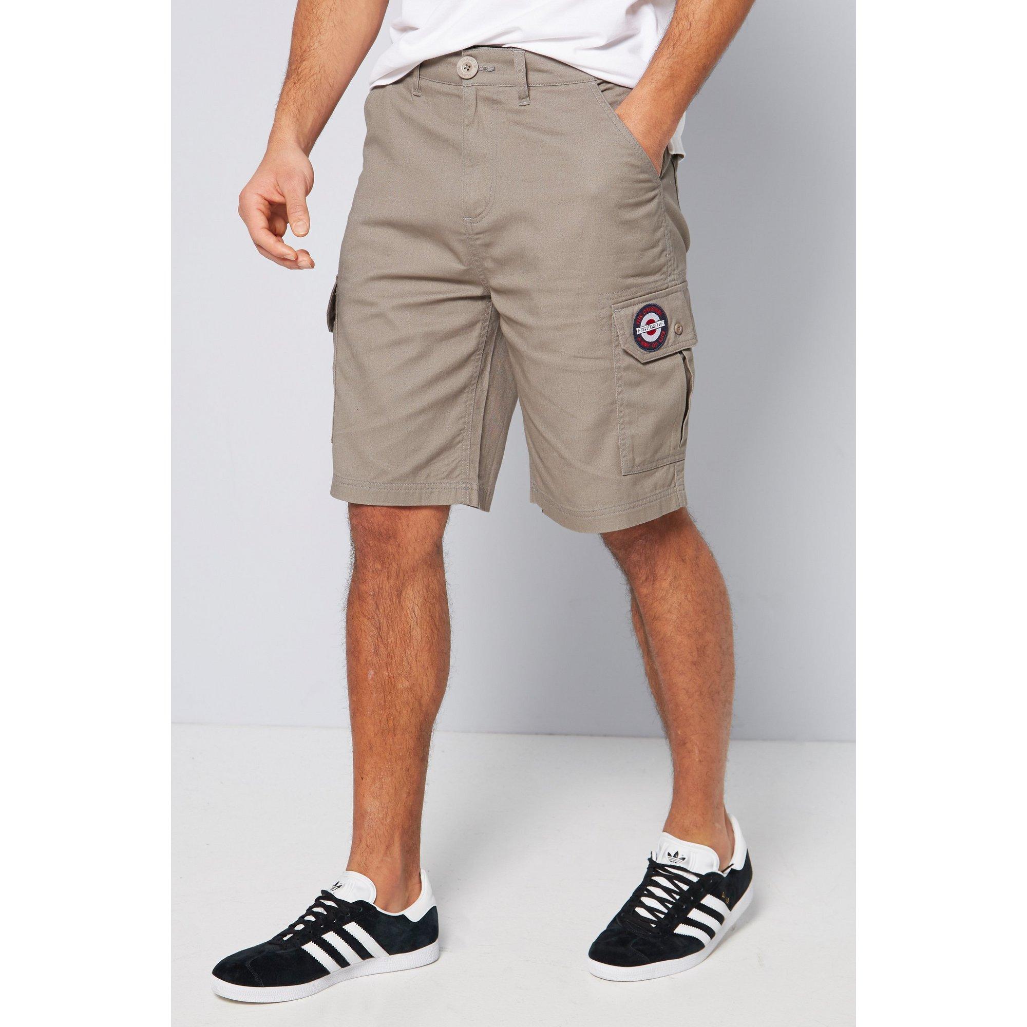 Image of Lambretta Grey Cargo Shorts