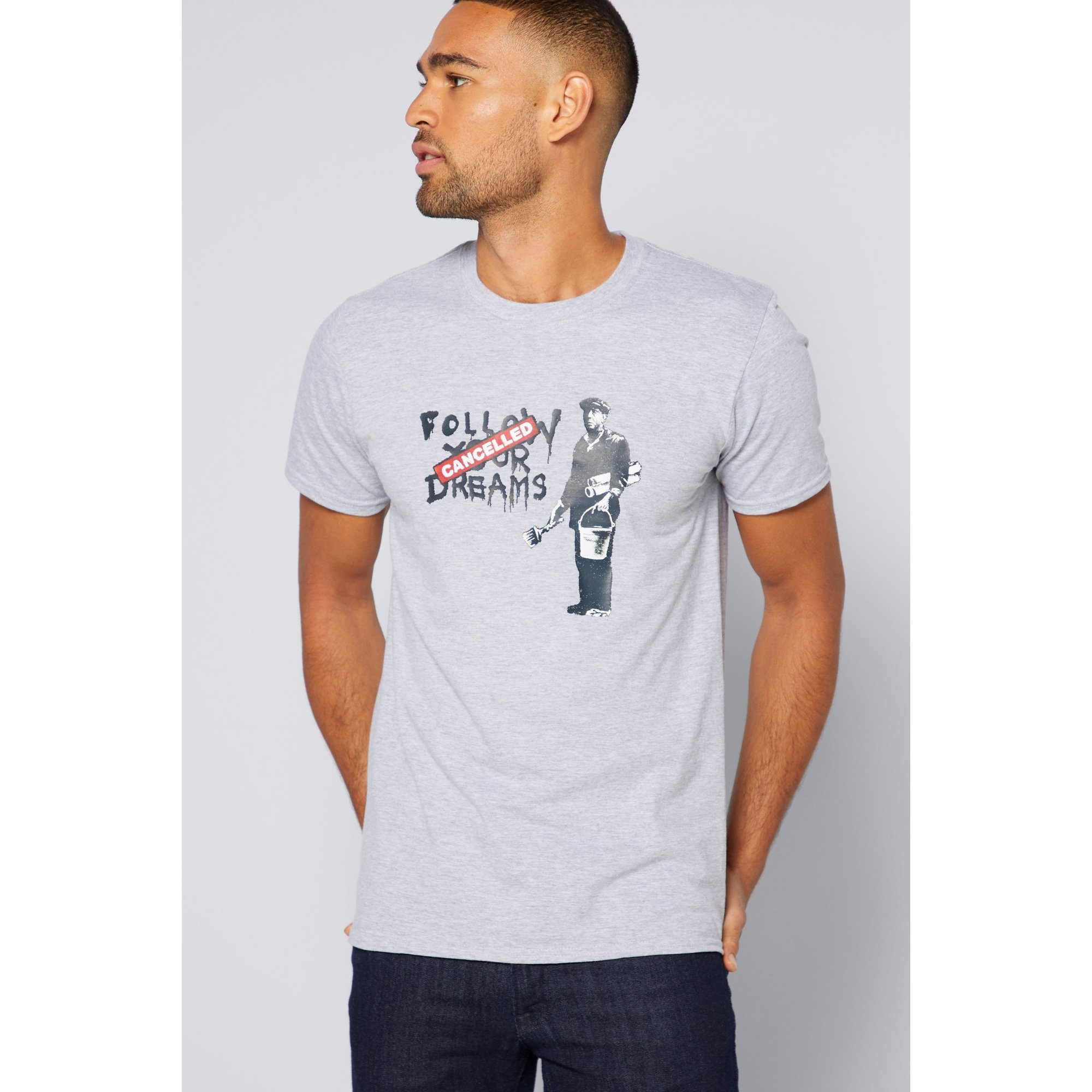 Image of Banksy Follow Your Dreams T-Shirt