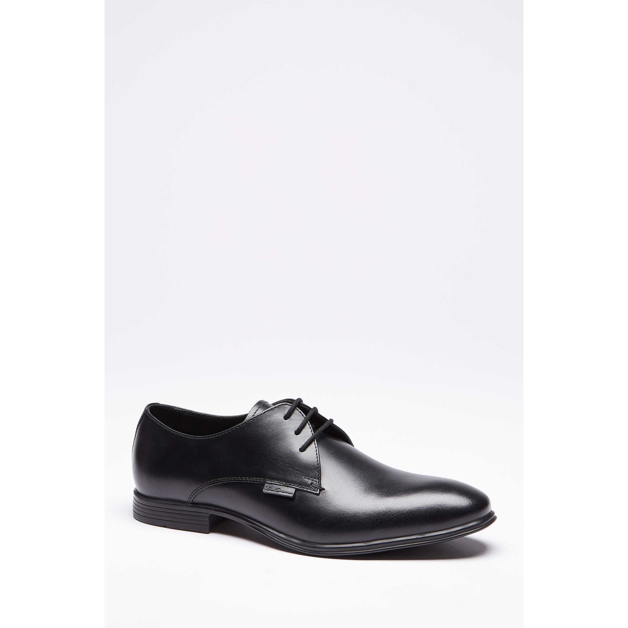 Image of Ben Sherman Black Leather Lace Up Derby Shoes