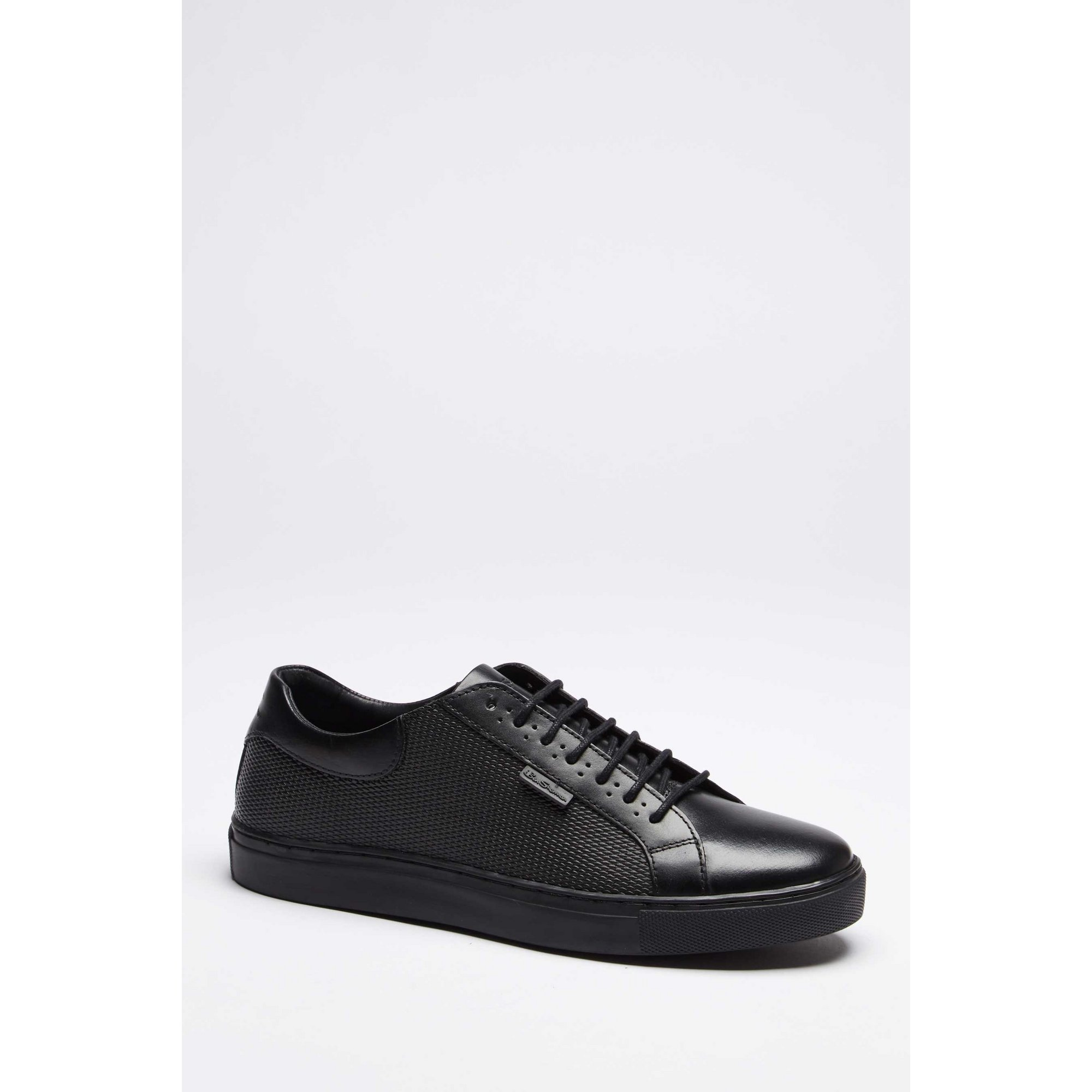 Image of Ben Sherman Black Leather Lace Up Trainers