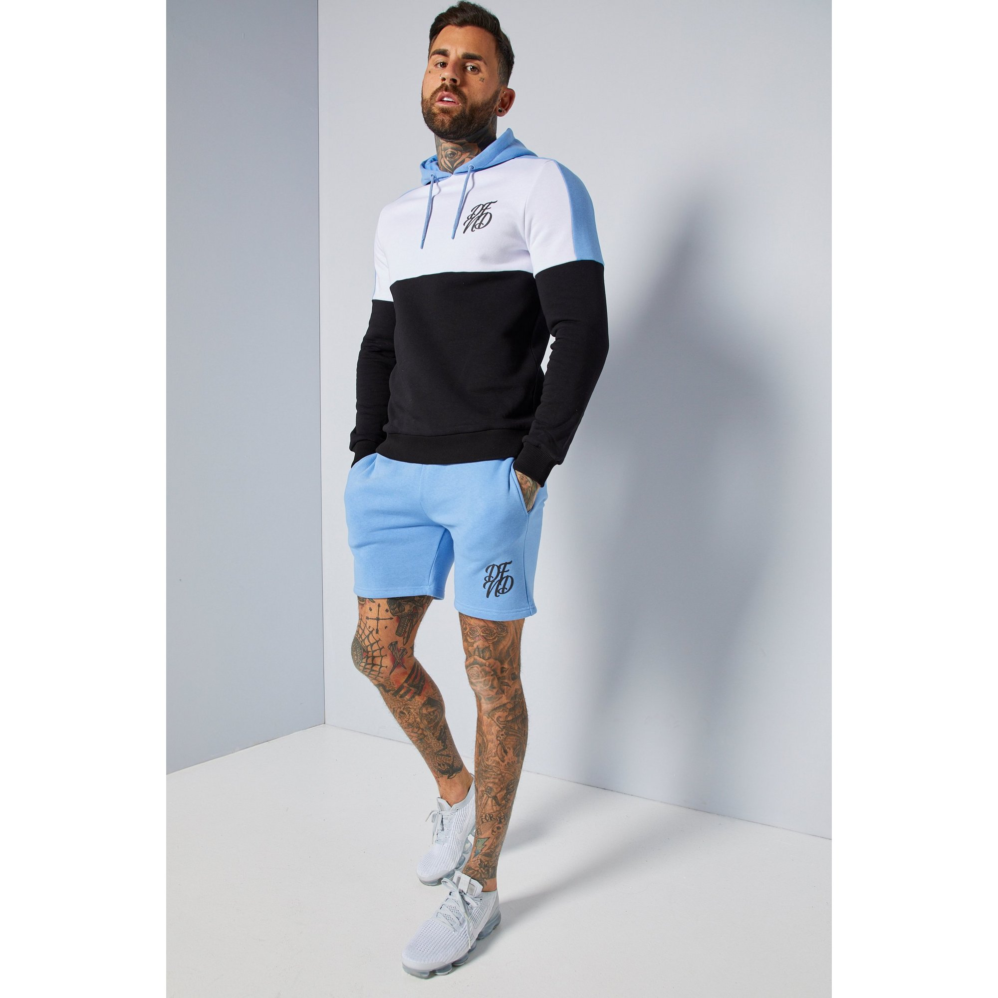 Image of DFND Blue Chevron Hoody and Short Set