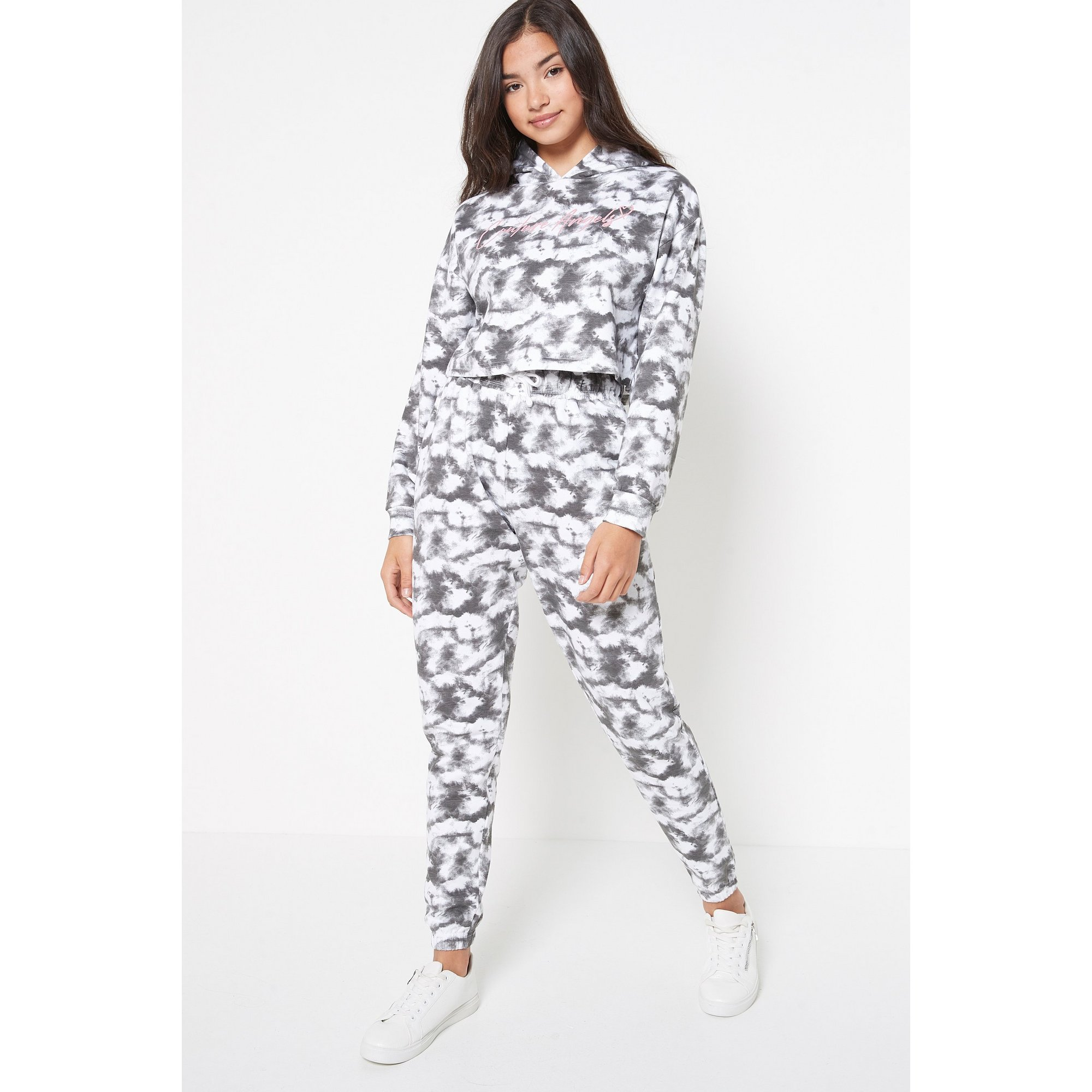 Image of Teen Girls 2 Piece Tie-Dye Effect Hoody and Jogger Set