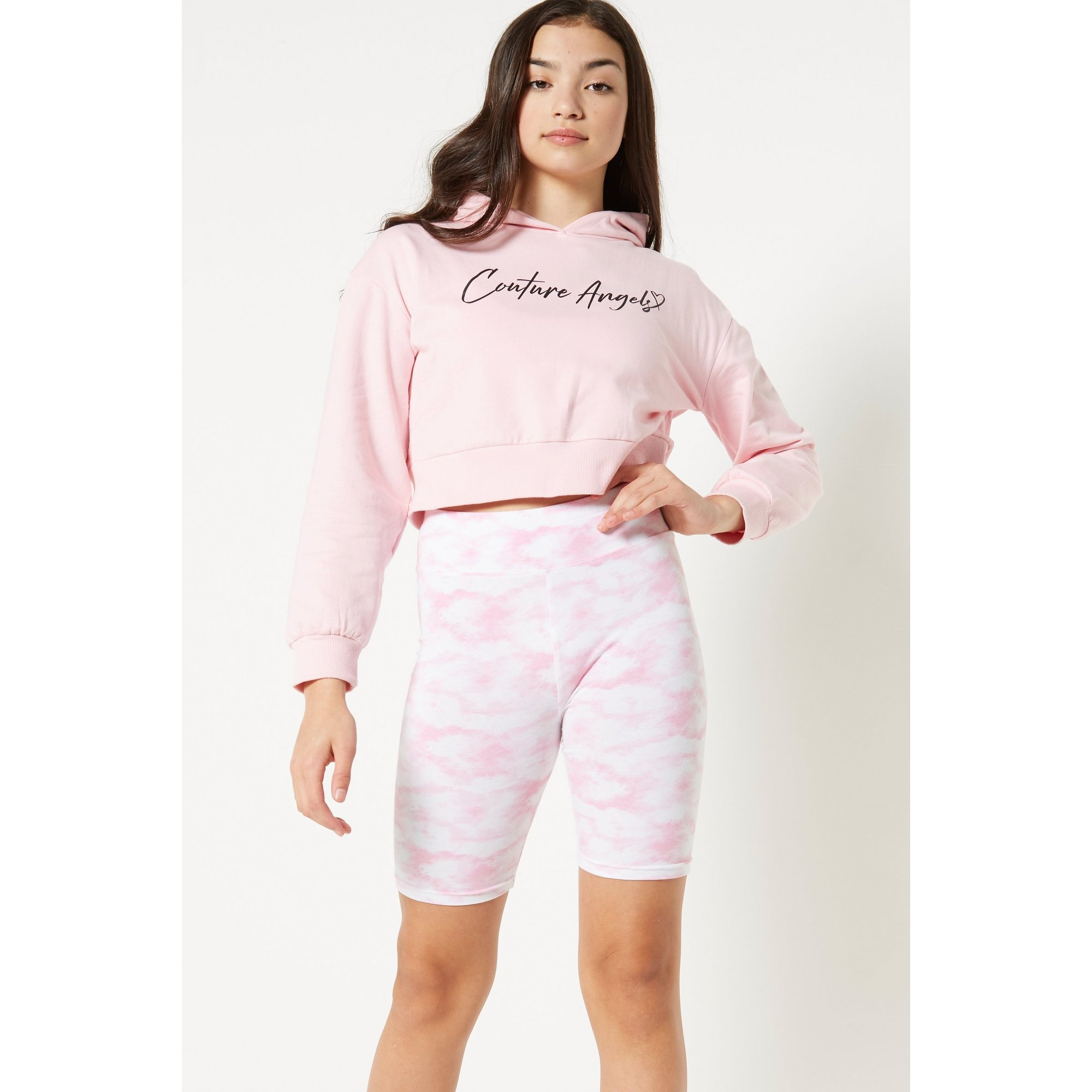 Image of Couture Angels Hoody and Tie Dye Cycling Shorts Set