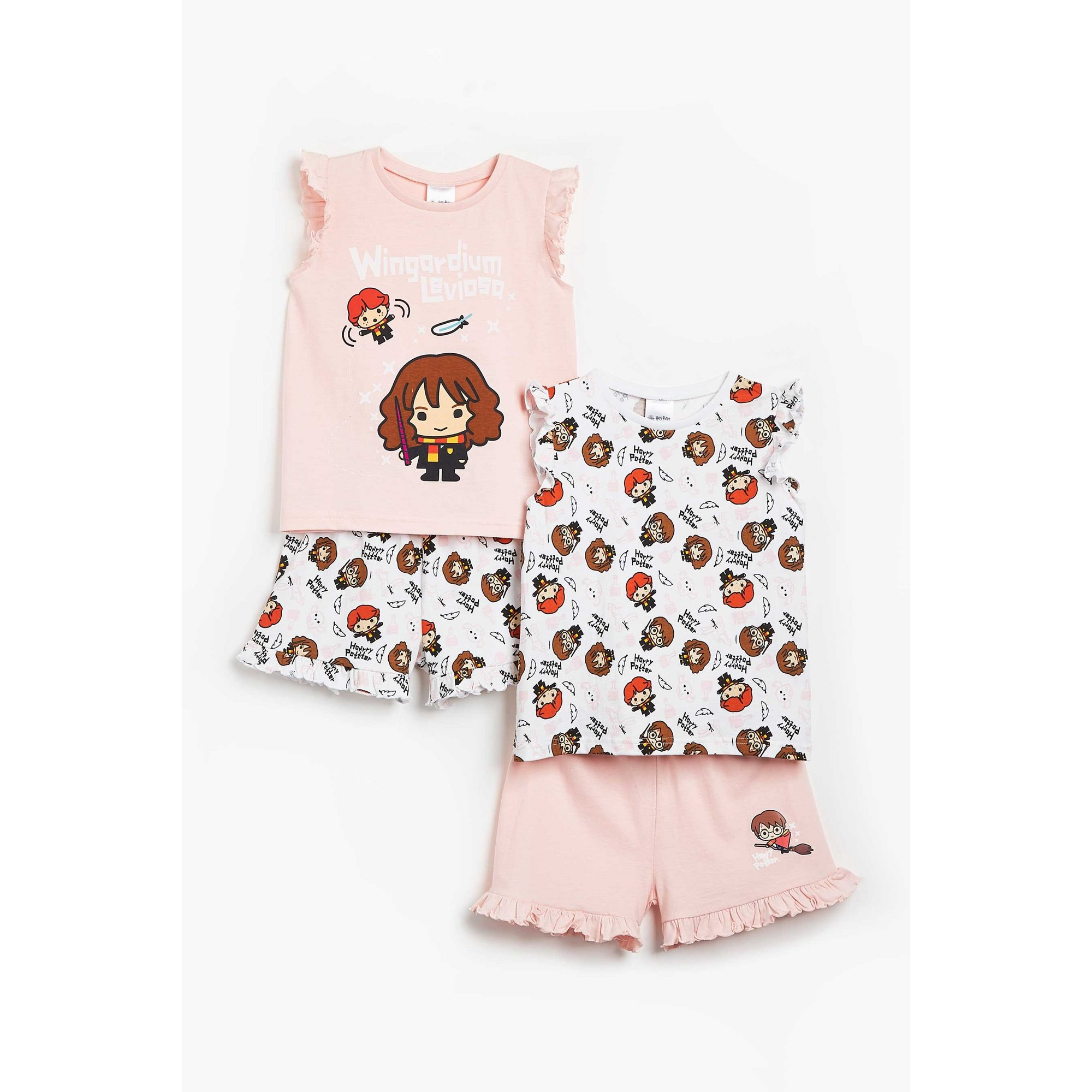 Image of Girls Pack of 2 Harry Potter Shortie Pyjamas