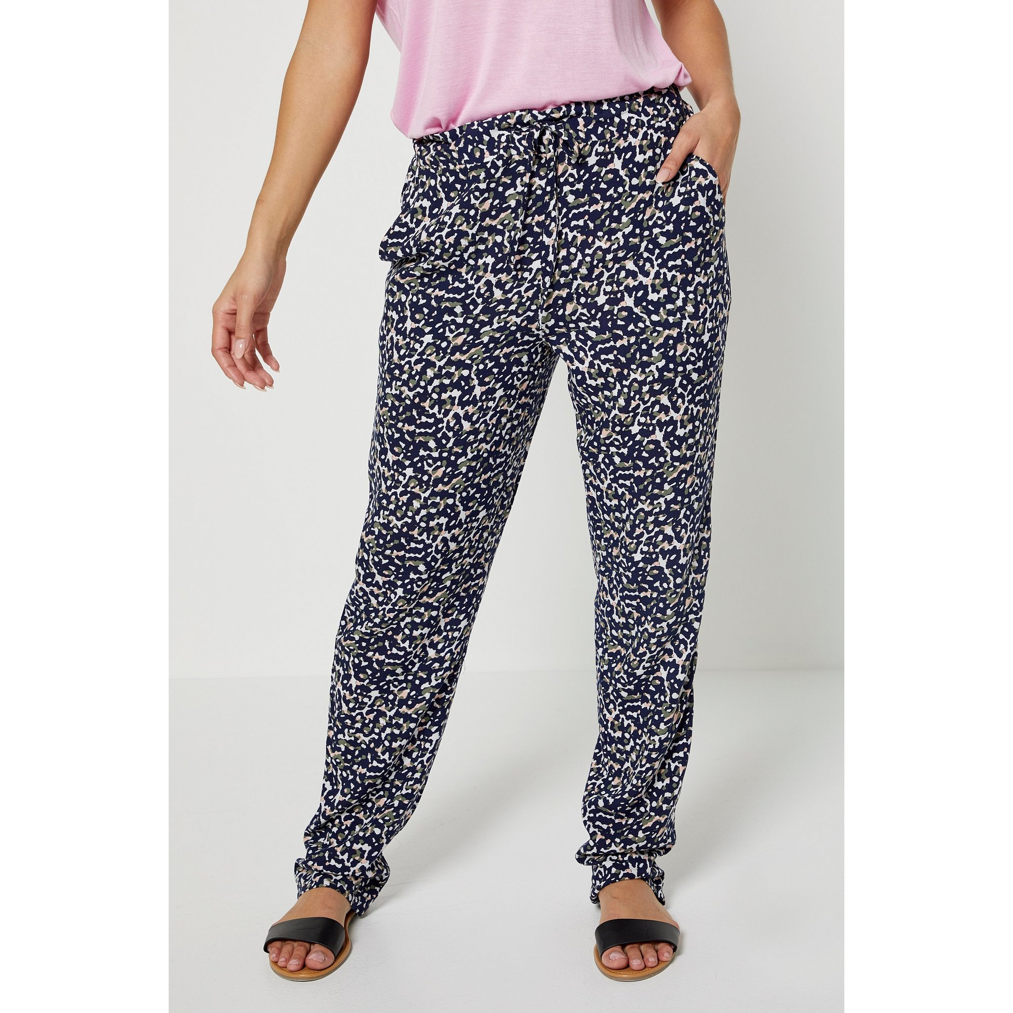Image of Animal Printed Tapered Trousers