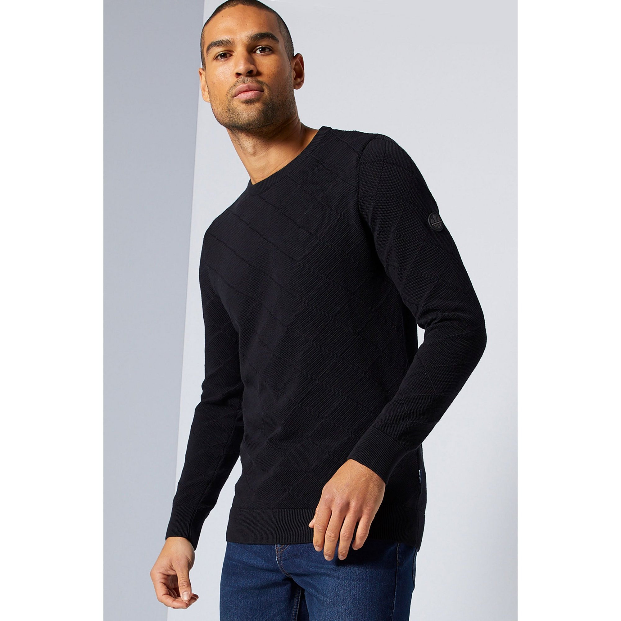 Image of Bewley and Ritch Crew Neck Arm Branded Knit Top