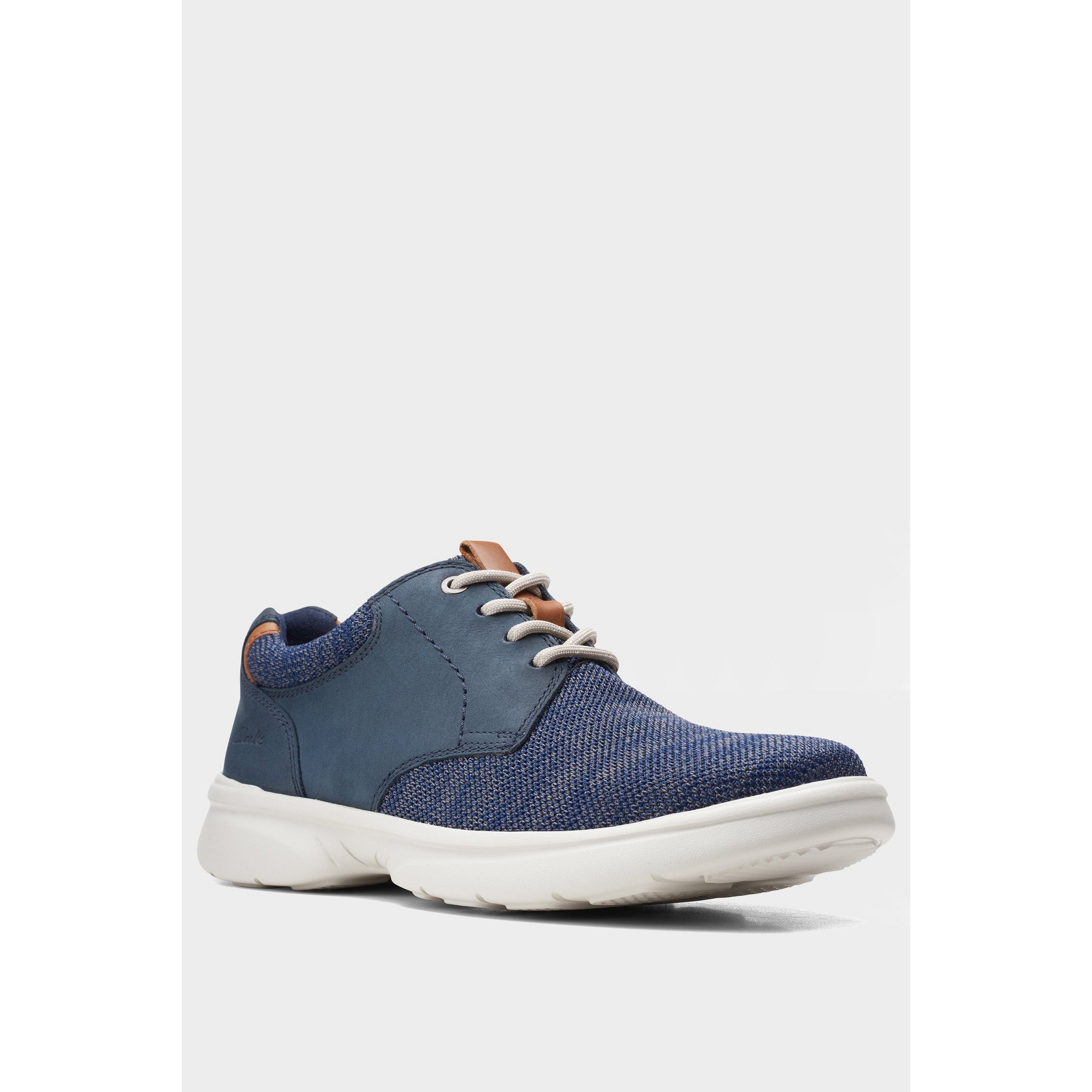 Image of Clarks Bradley Lane Lace Up Navy Shoes