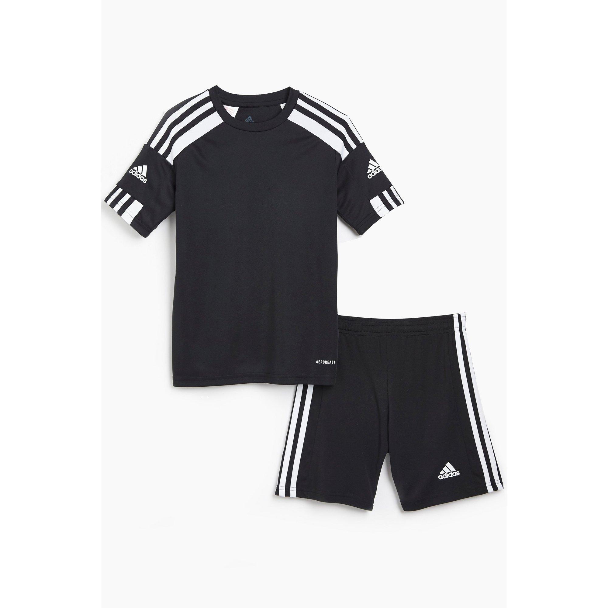 Image of Boys adidas Black Squadra T-Shirt and Short Set