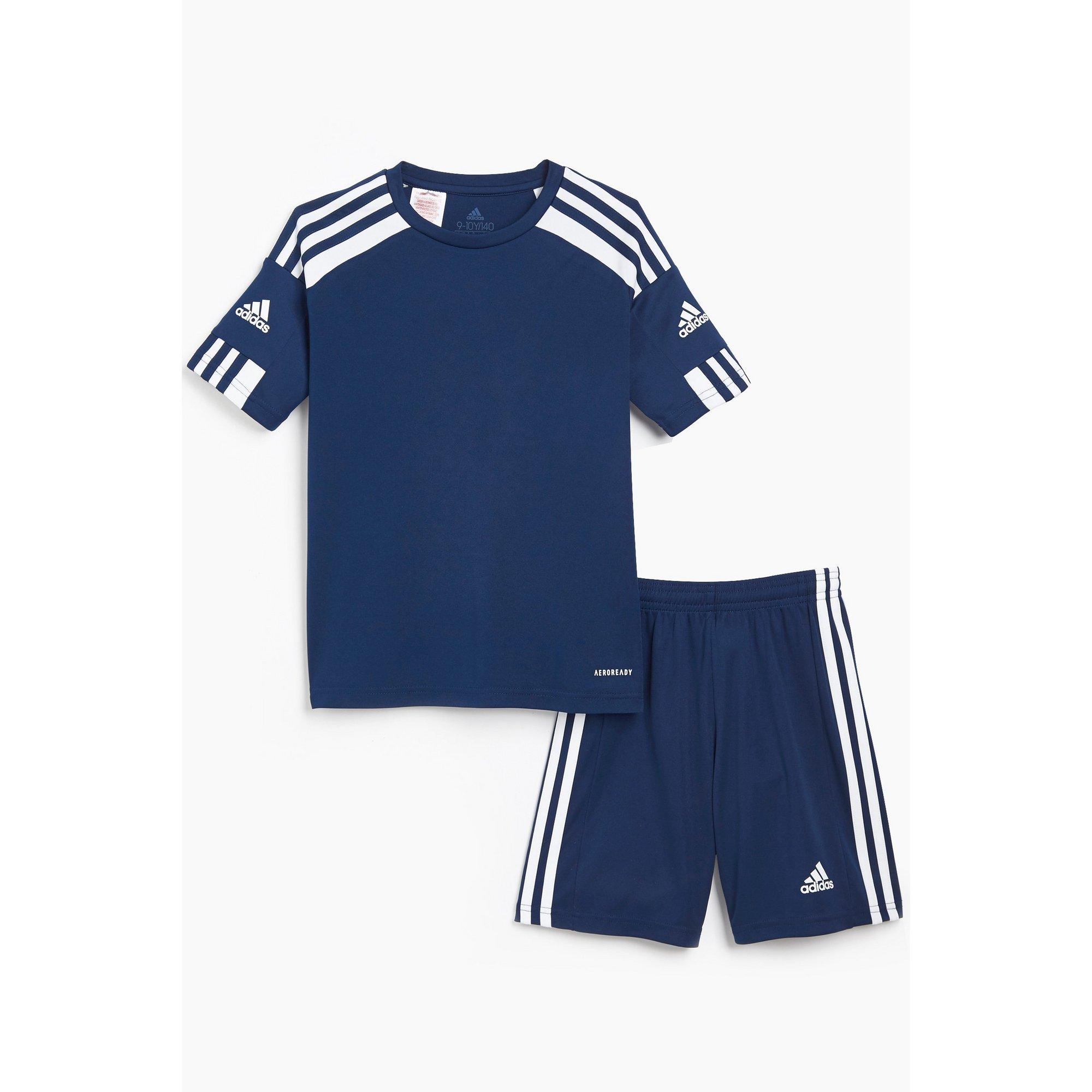 Image of Boys adidas Navy Squadra T-Shirt and Short Set