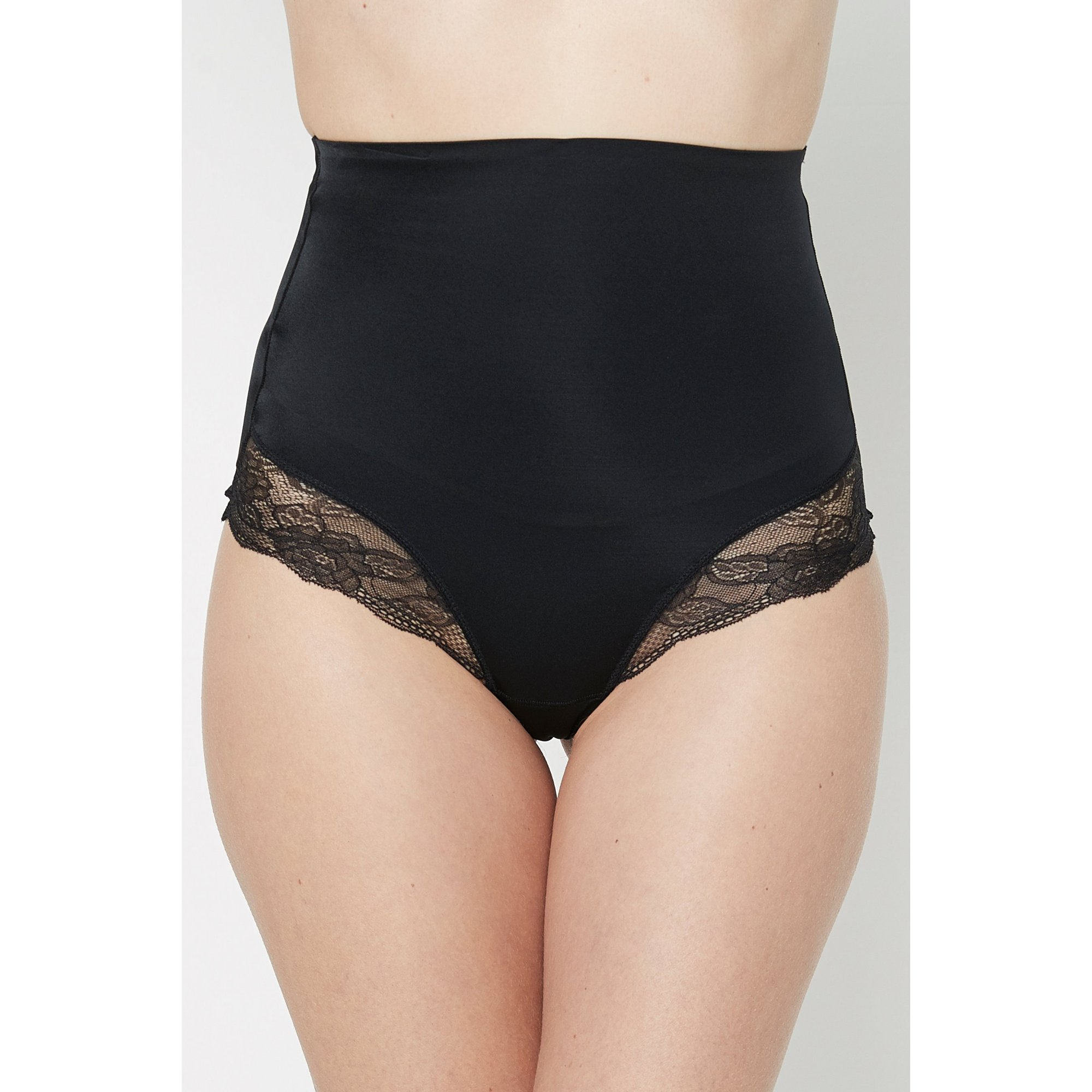 Image of Lace Trim Control Thong