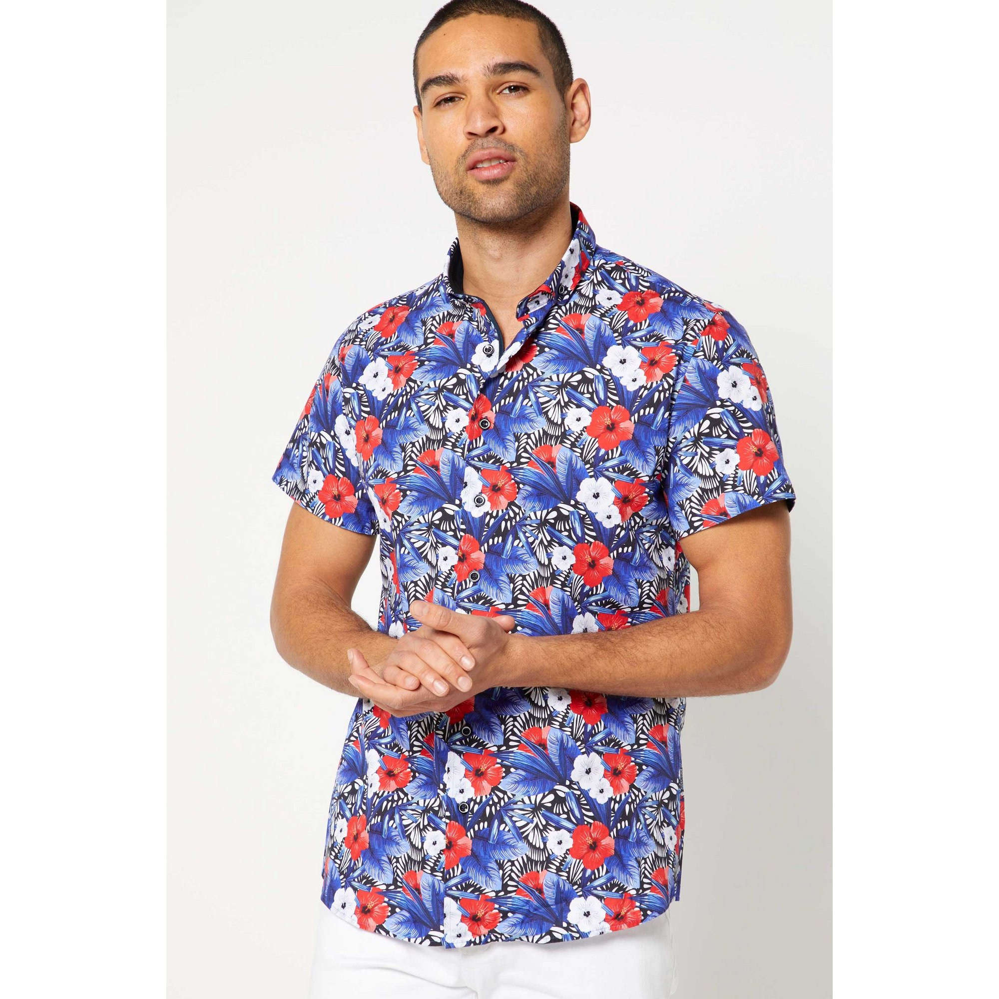 Image of Bewley and Ritch Been Multi Short Sleeve Shirt