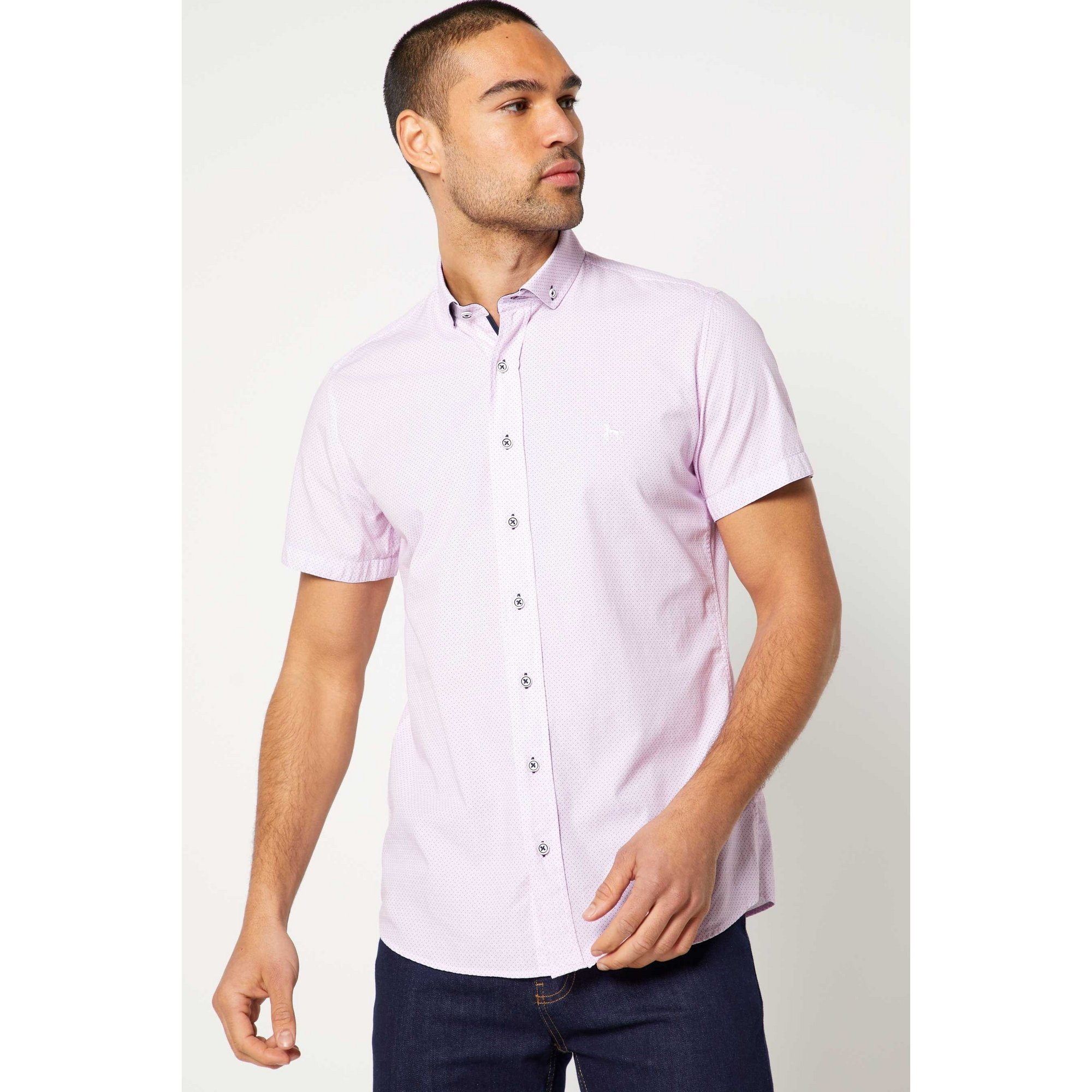 Image of Bewley and Ritch Bode Pink Short Sleeve Shirt