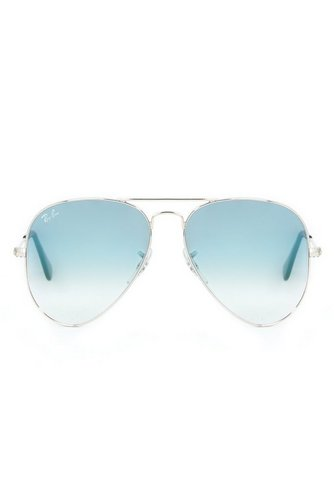 ab7de826b59cd Image for Silver Blue Ray-Ban Aviator Sunglasses from studio
