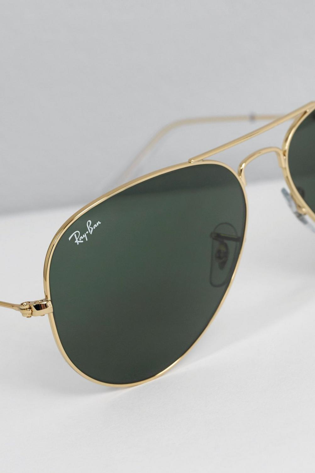 6378d3111d488 Image for Gold Green Ray-Ban Aviator Sunglasses from studio