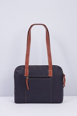 Rowallan Twin Handle Zip Top Leather Bag