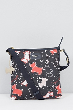 Radley Medium Zip Top Cross Body Speckle Dog