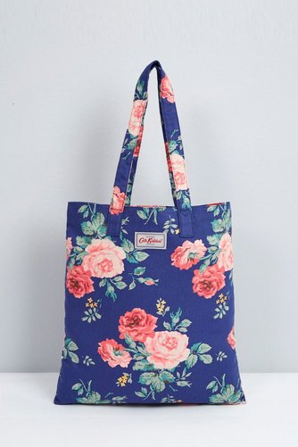 Image for Cath Kidston Cotton Book Bag u2013 Antique Rose Navy from studio & Cath Kidston Cotton Book Bag u2013 Antique Rose Navy | Studio