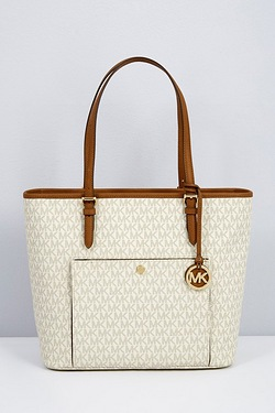 Michael Kors Jet Set Signiture Snap Tote