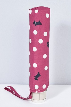 Radley Vintage Dog Dot Mini Telescopic Umbrella - Magenta