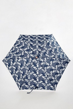 Radley Vintage Dog Dot Mini Telescopic Umbrella - Ink Blue
