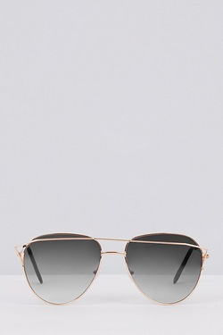 Aviator Sunglasses - Black Gradient